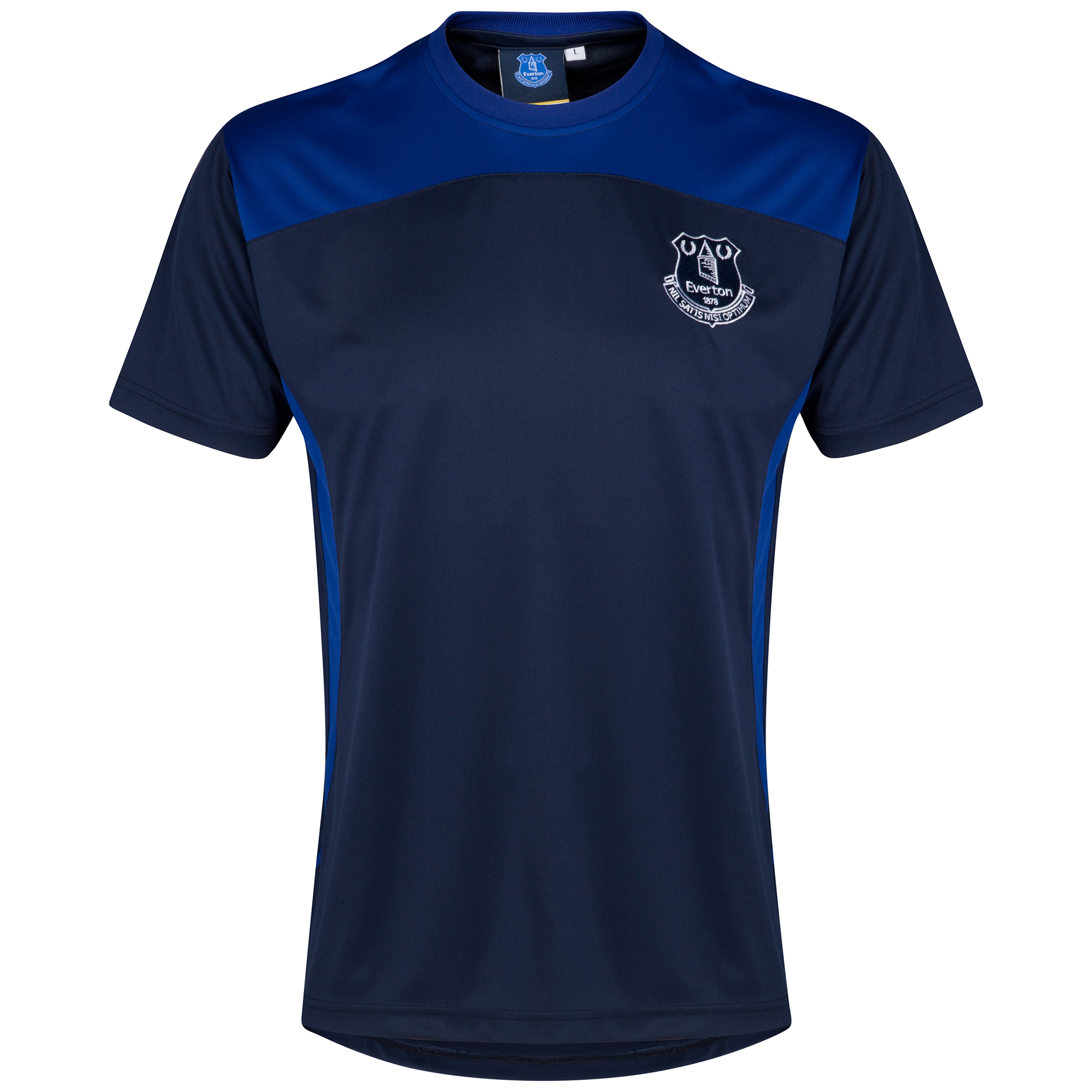 Everton Essential Poly T-Shirt - Navy/Everton Blue - Older Boys
