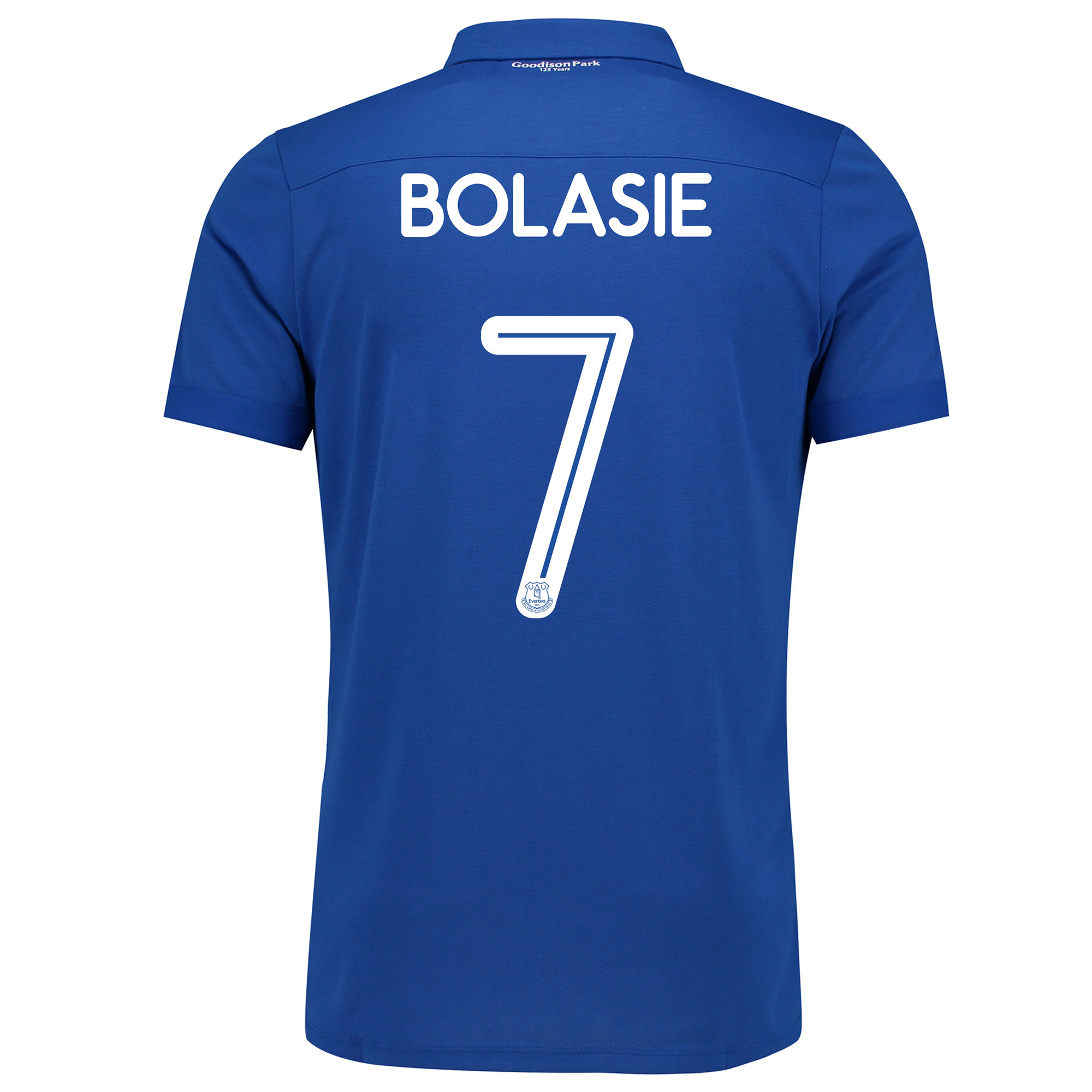 Image of Everton Commemorative Shirt - Junior with Bolasie 7 printing