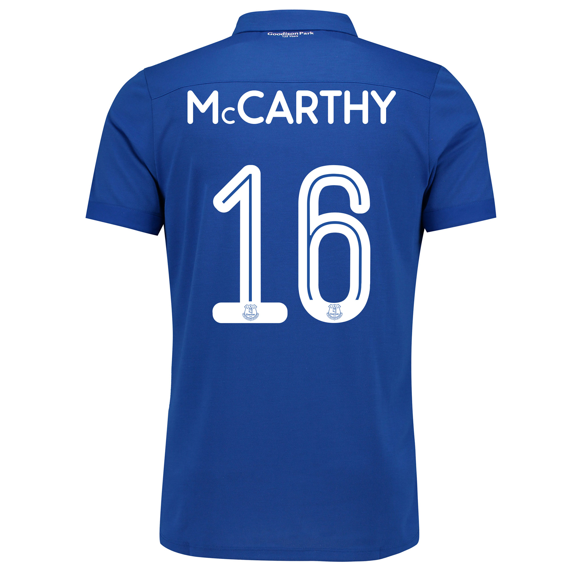 Image of Everton Commemorative Shirt - Junior with McCarthy 16 printing