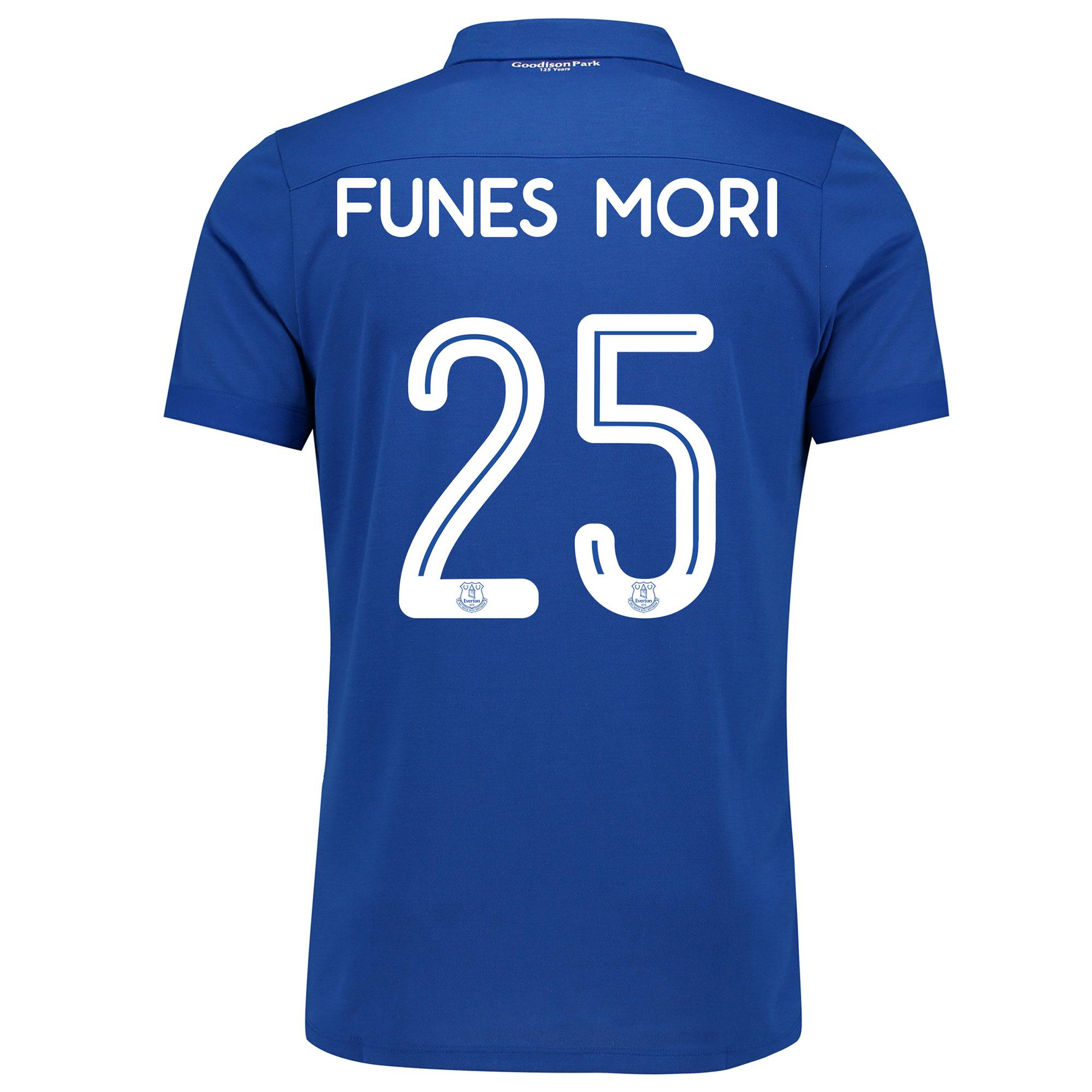 Image of Everton Commemorative Shirt - Junior with Funes Mori 25 printing