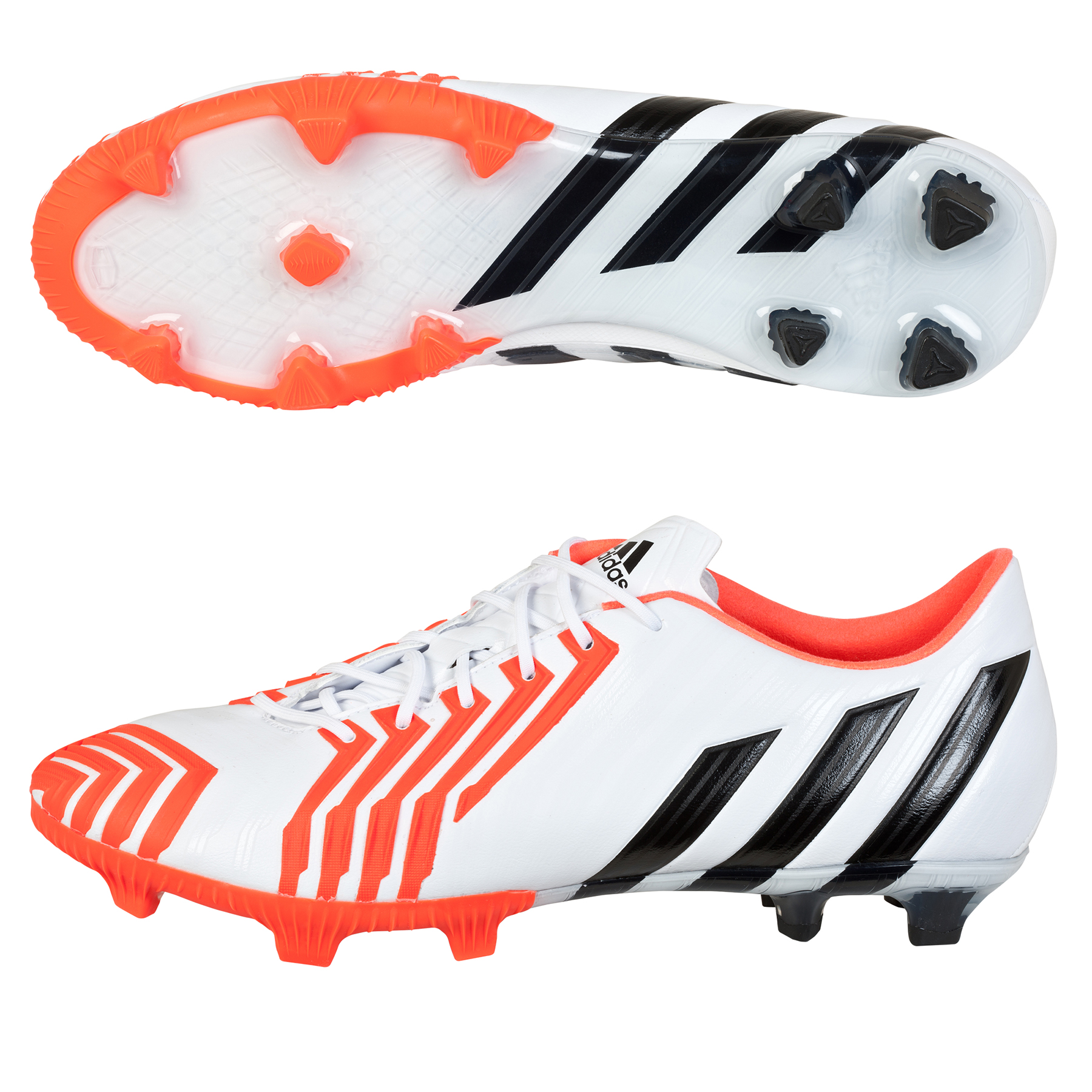 Adidas Predator Instinct Firm Ground Football Boots White