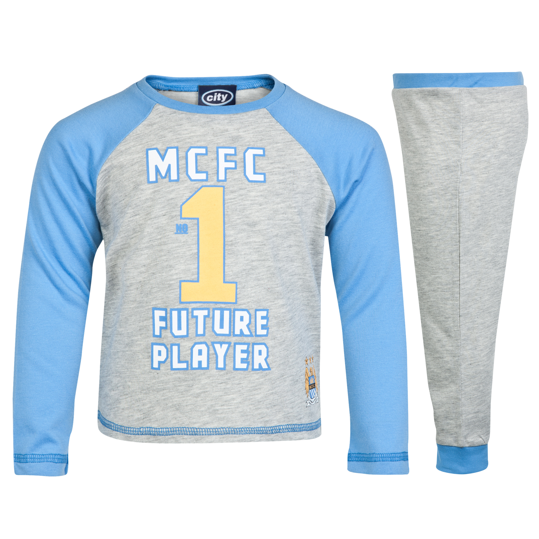 Manchester City Pyjamas - Grey - Infant Boys