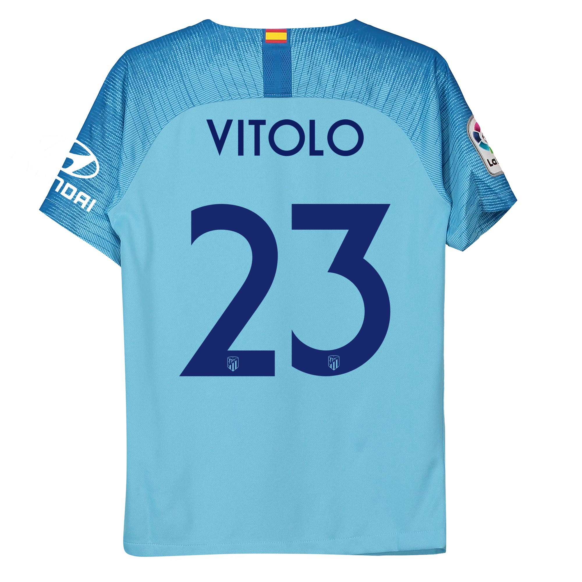 Camiseta Stadium de la 2ª equipación del Atlético de Madrid 2018-19 - dorsal edición especial Metropolitano - Niño dorsal Vitolo 23 precio