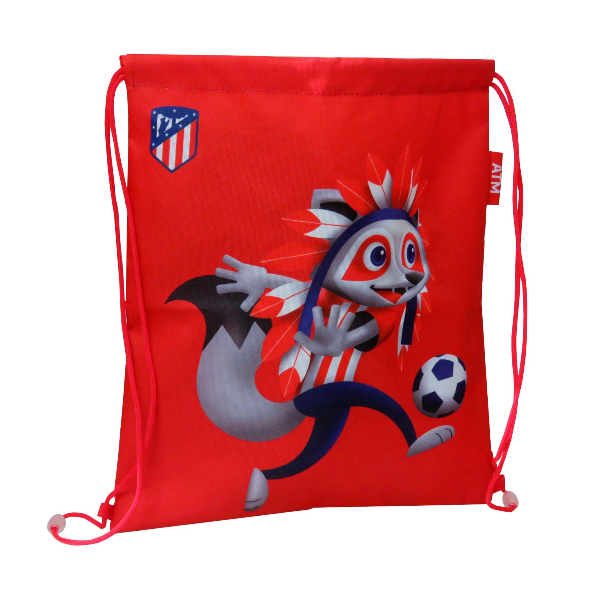 Sac de sport avec mascotte de l'Atlético de Madrid - 35 x 30cm