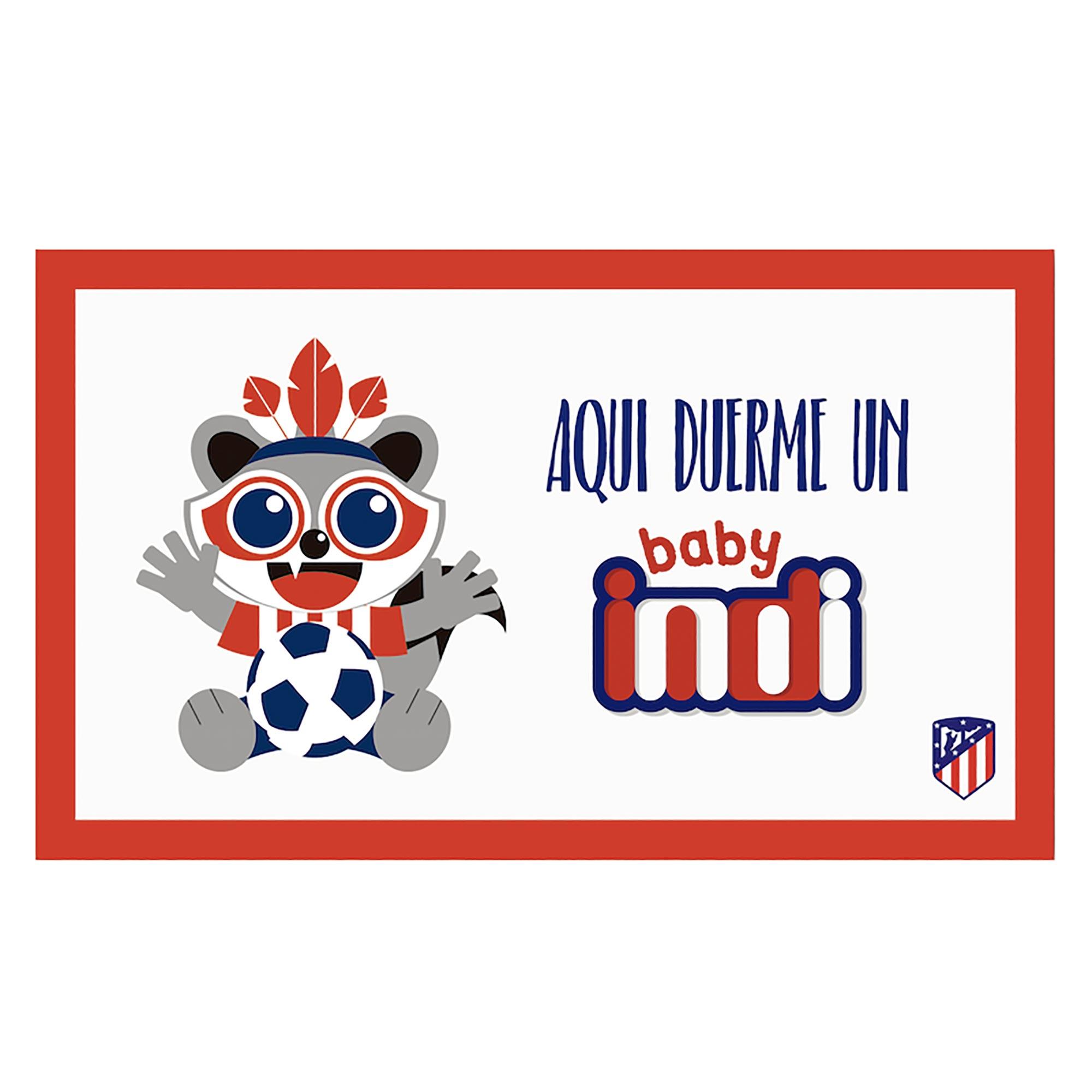 Plaque de porte Bébé Indi de l'Atlético de Madrid - 15 x 25cm
