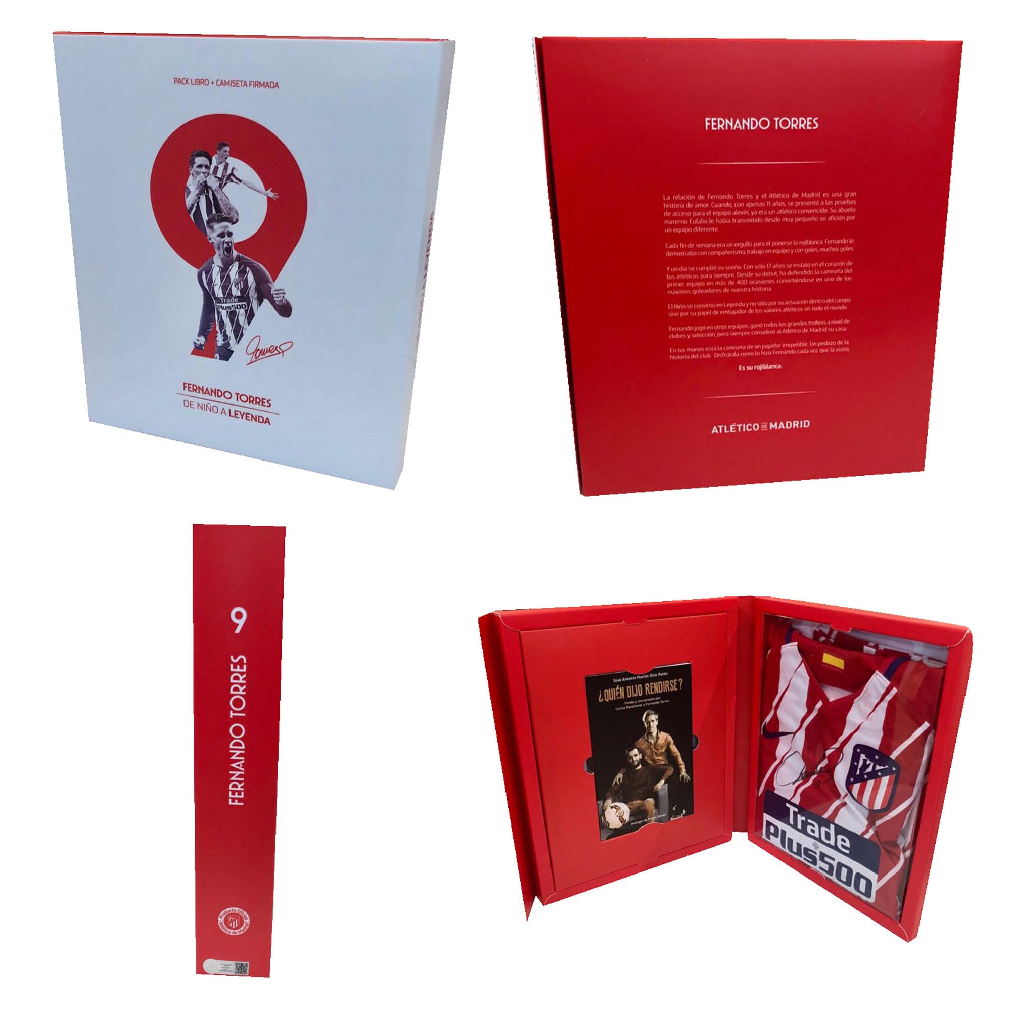 Pack livre et maillot signé par Fernando Torres de l'Atlético de Madrid
