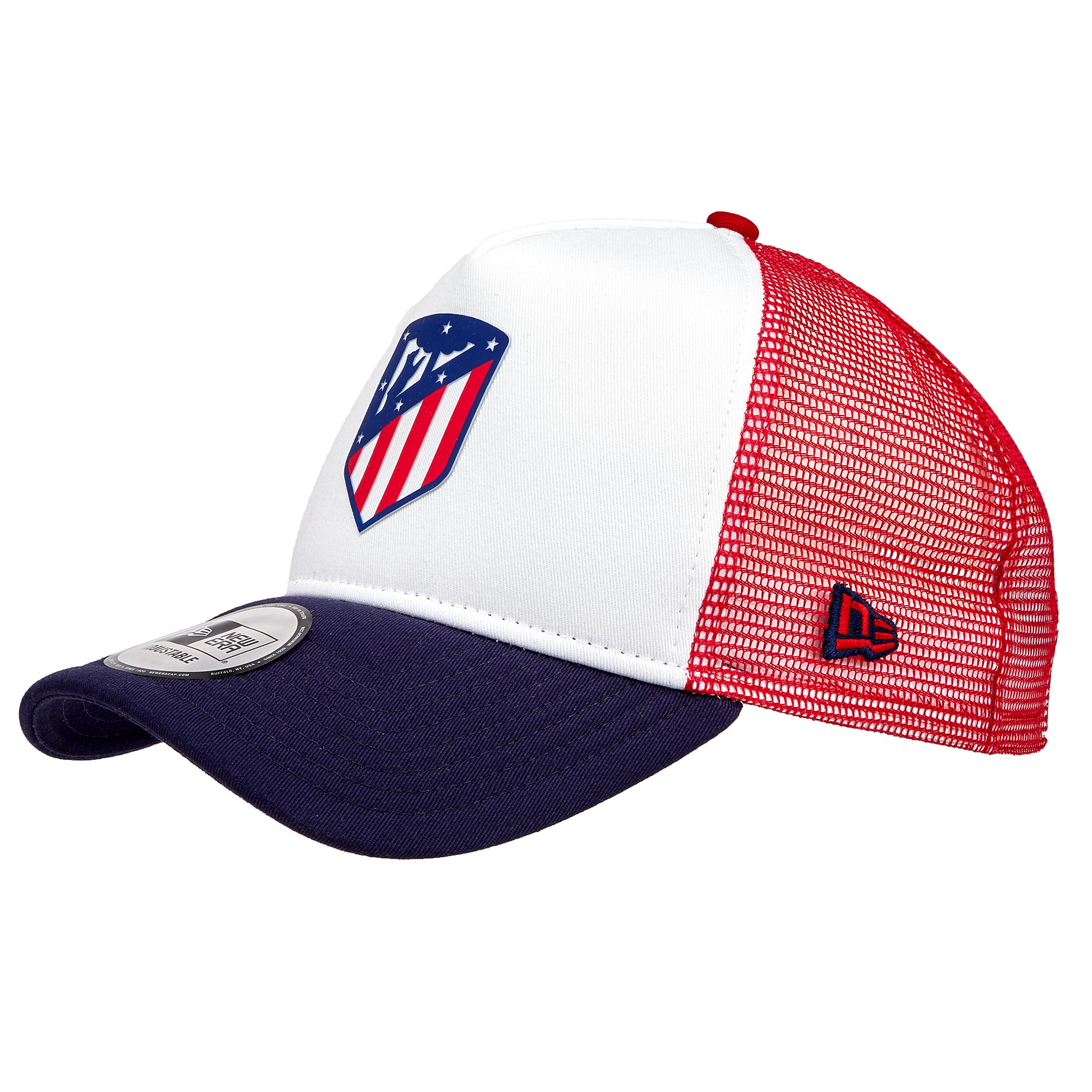 Gorra trucker del Atlético de Madrid de New Era en blanco