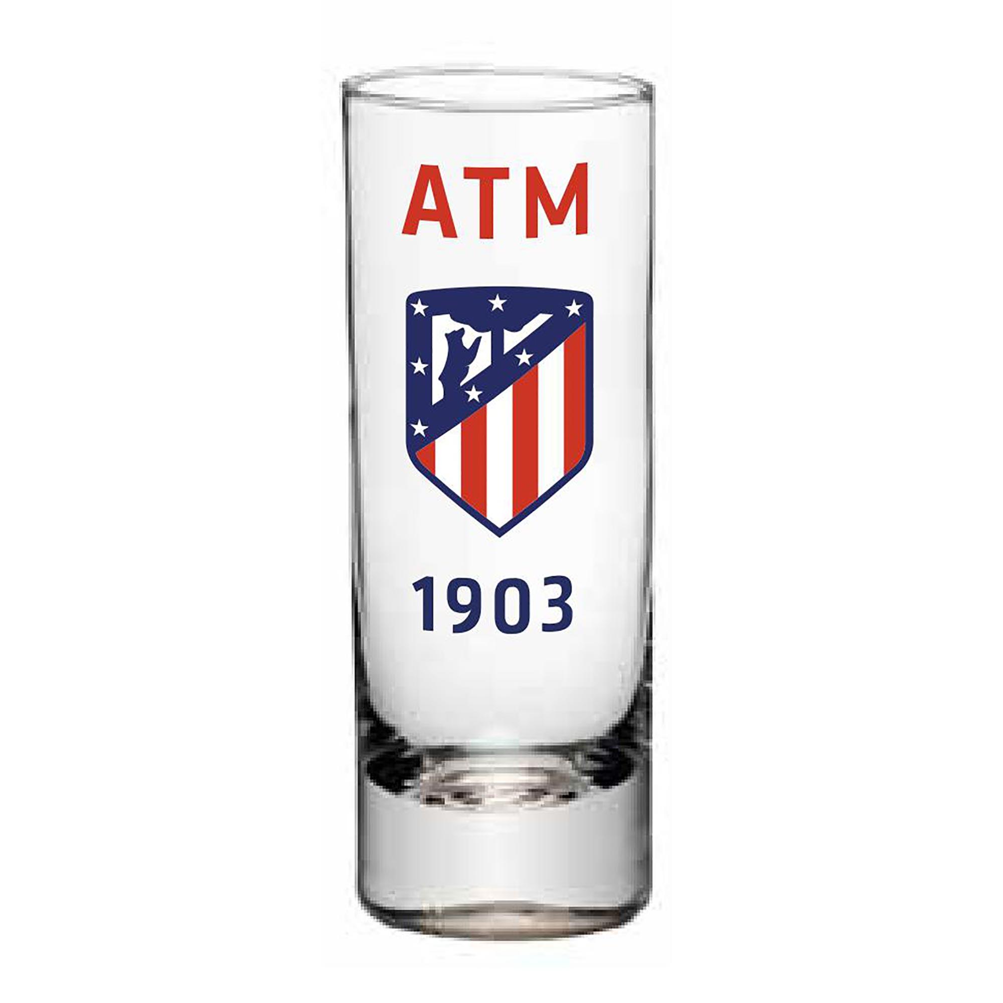 Verre à liqueur avec écusson de l'Atlético de Madrid