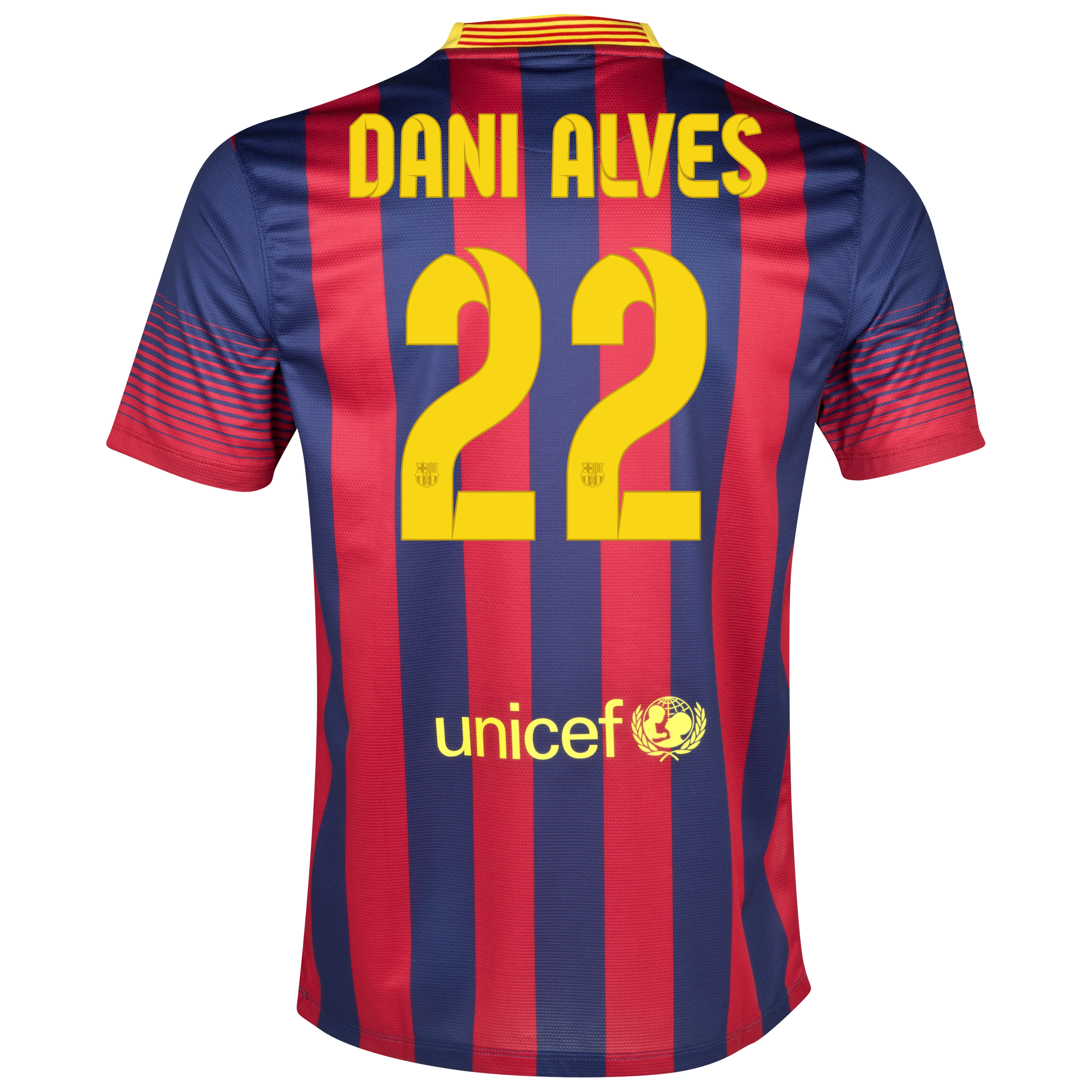 Barcelona Home Shirt 2013/14 with Dani Alves 22 printing