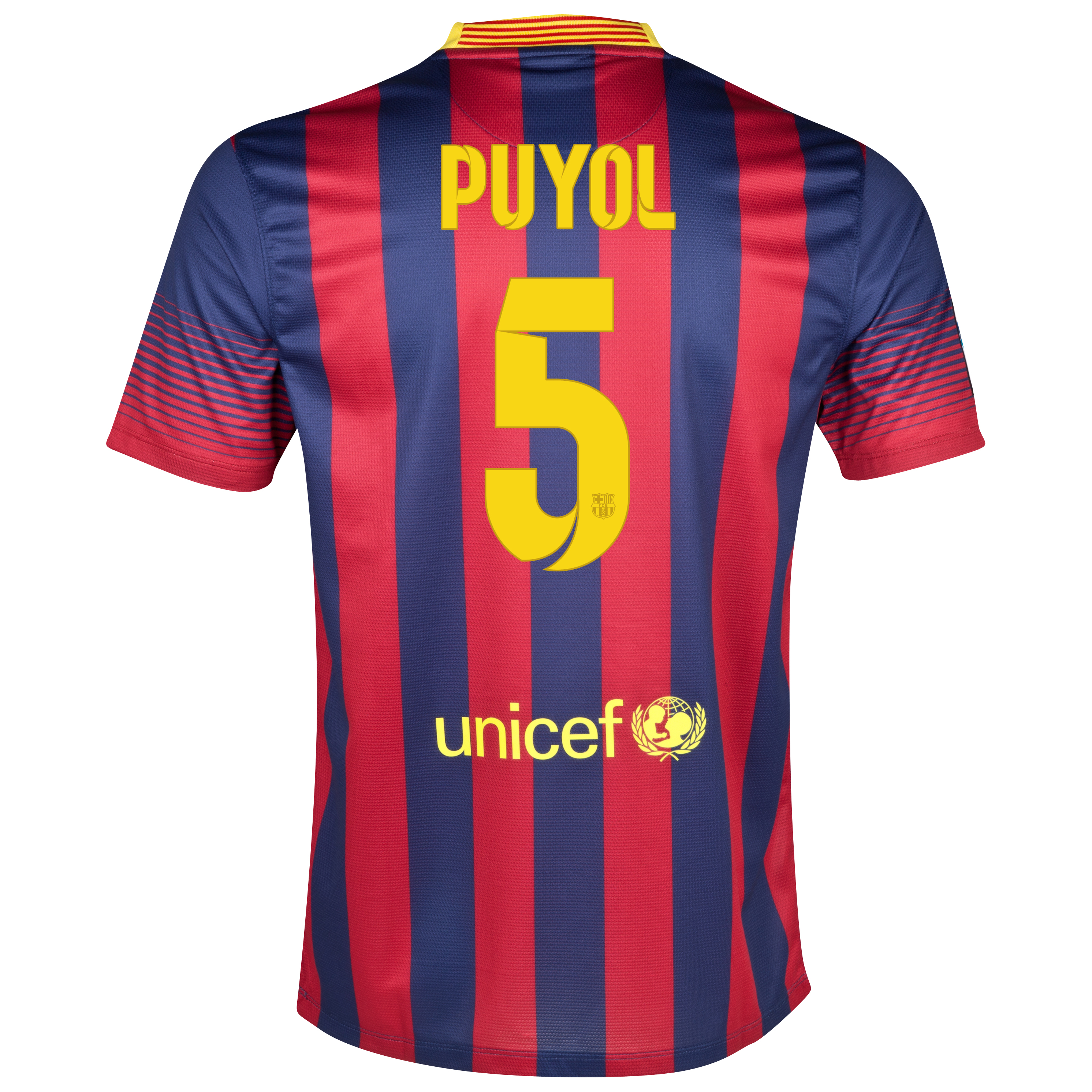 Barcelona Home Shirt 2013/14 with Puyol 5 printing