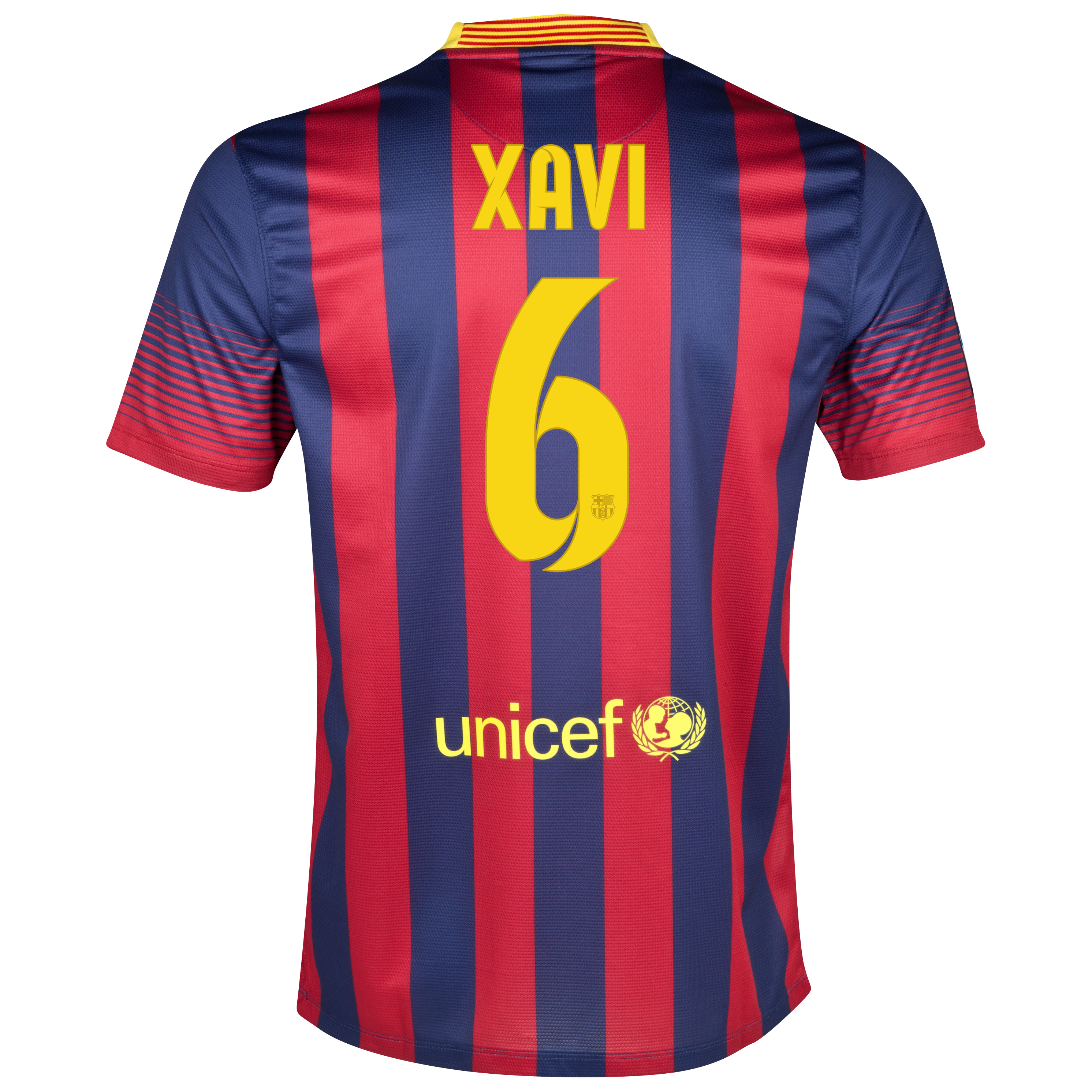Barcelona Home Shirt 2013/14 with Xavi 6 printing
