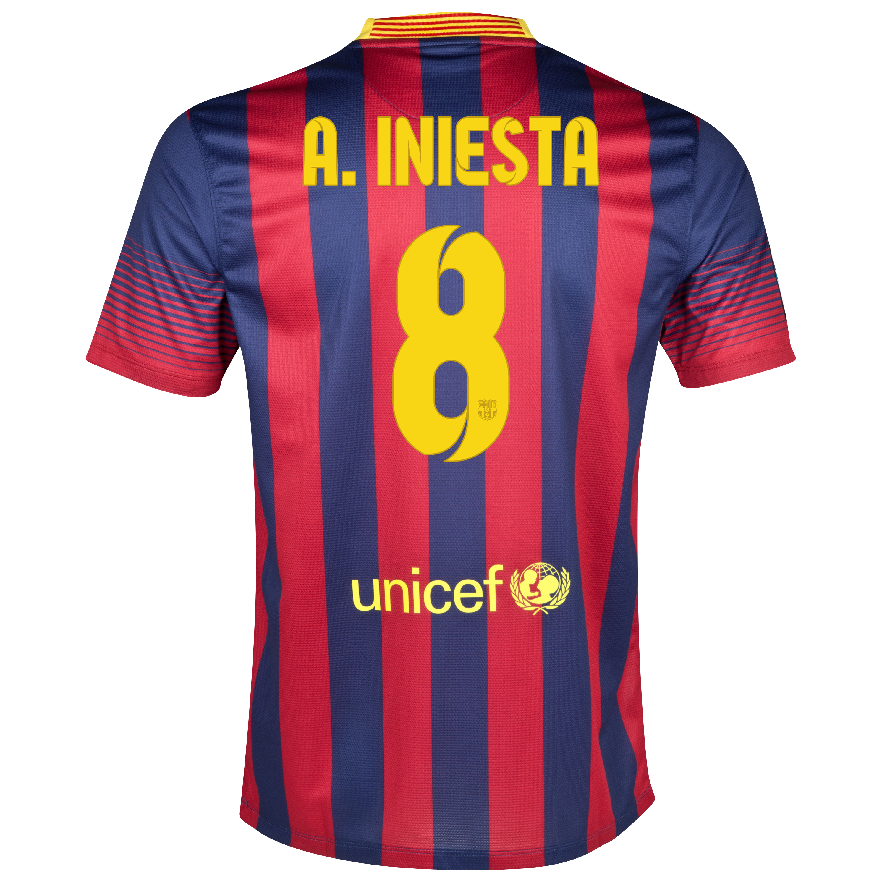 Barcelona Home Shirt 2013/14 with A. Iniesta  8 printing