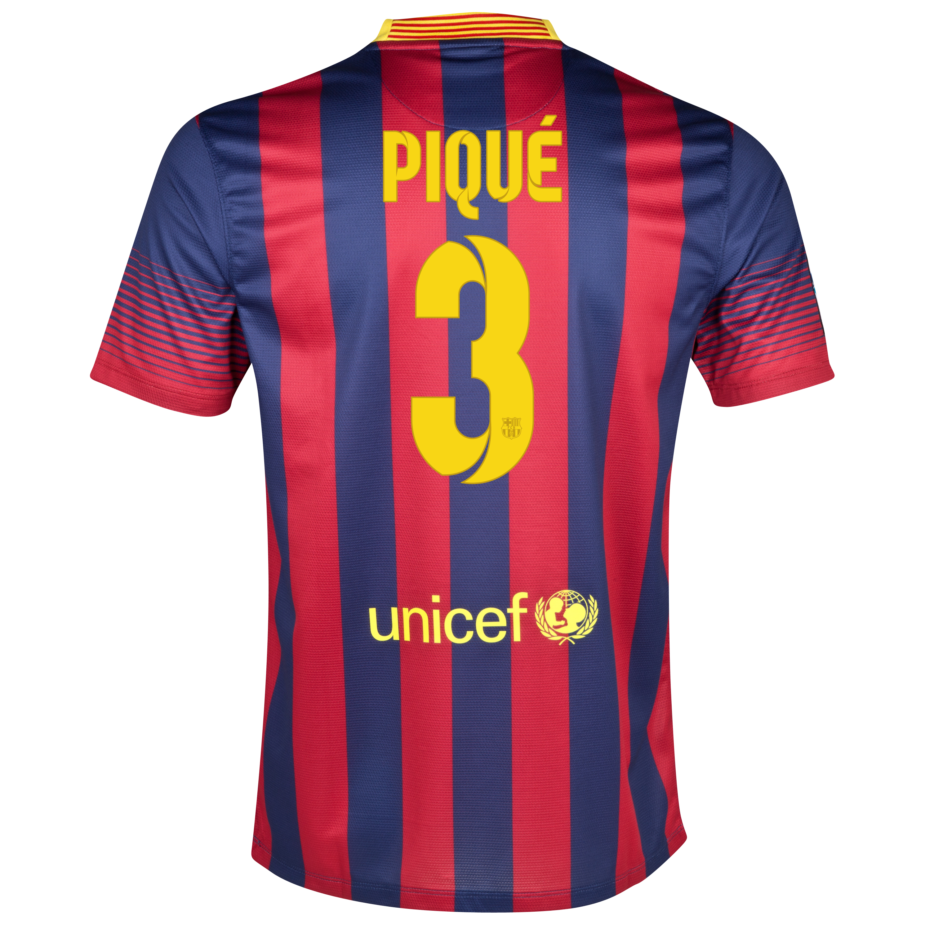 Barcelona Home Shirt 2013/14 - Kids with Pique 3 printing
