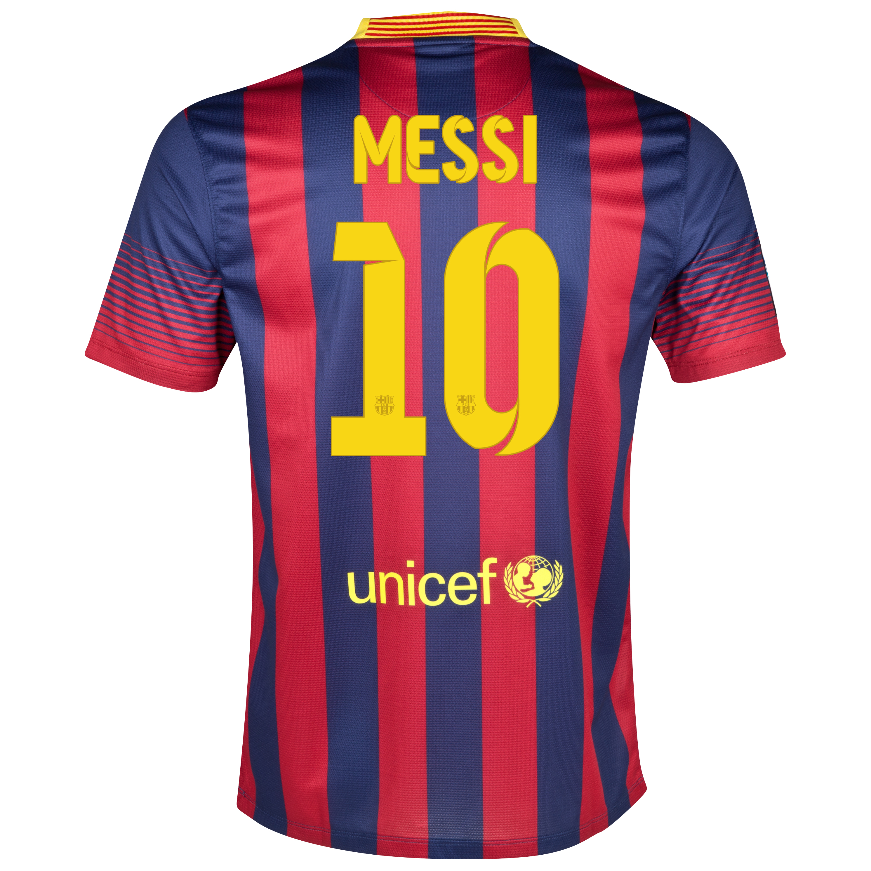 Barcelona Home Shirt 2013/14 - Kids with Messi 10 printing
