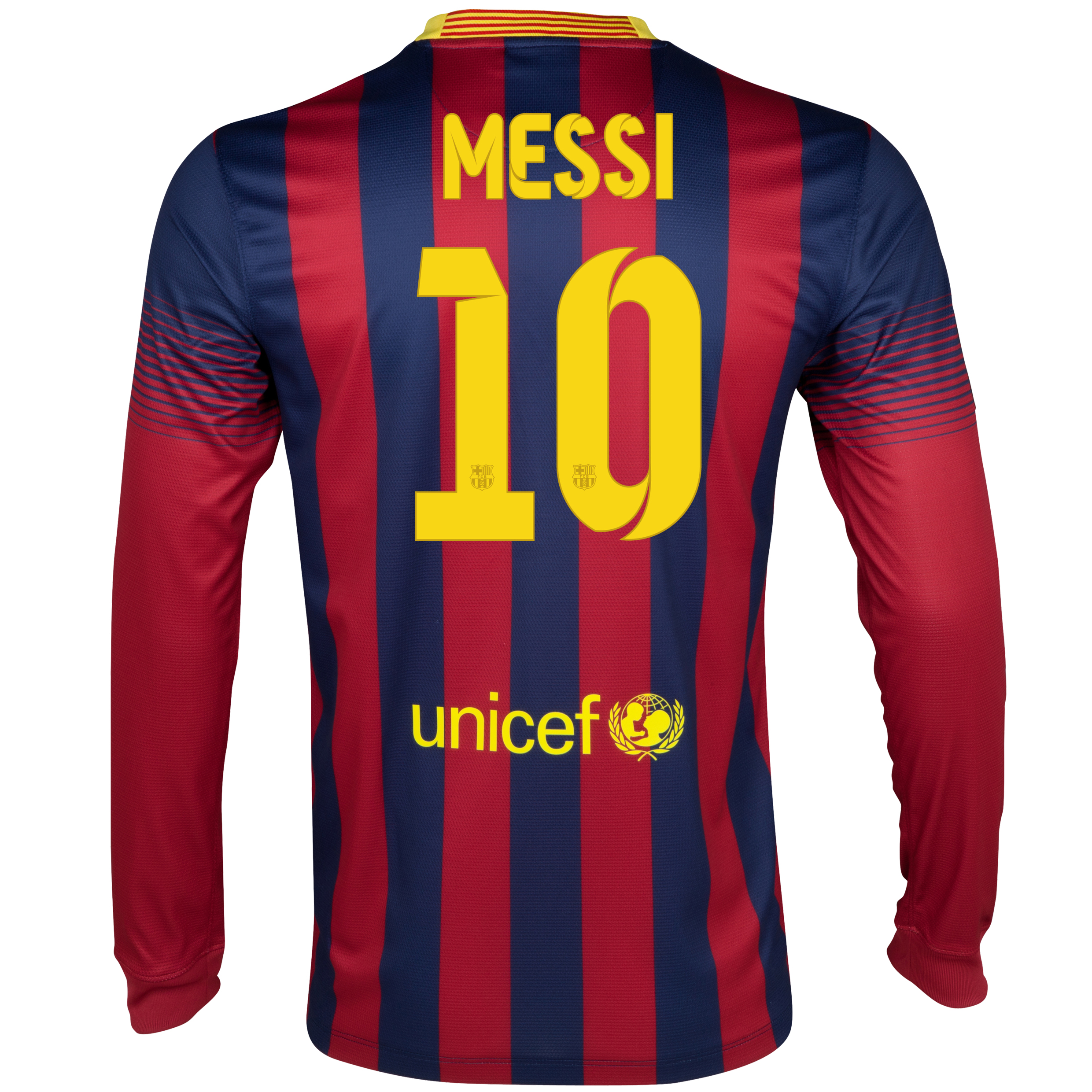 Barcelona Home Shirt 2013/14 - Long Sleeved with Messi 10 printing