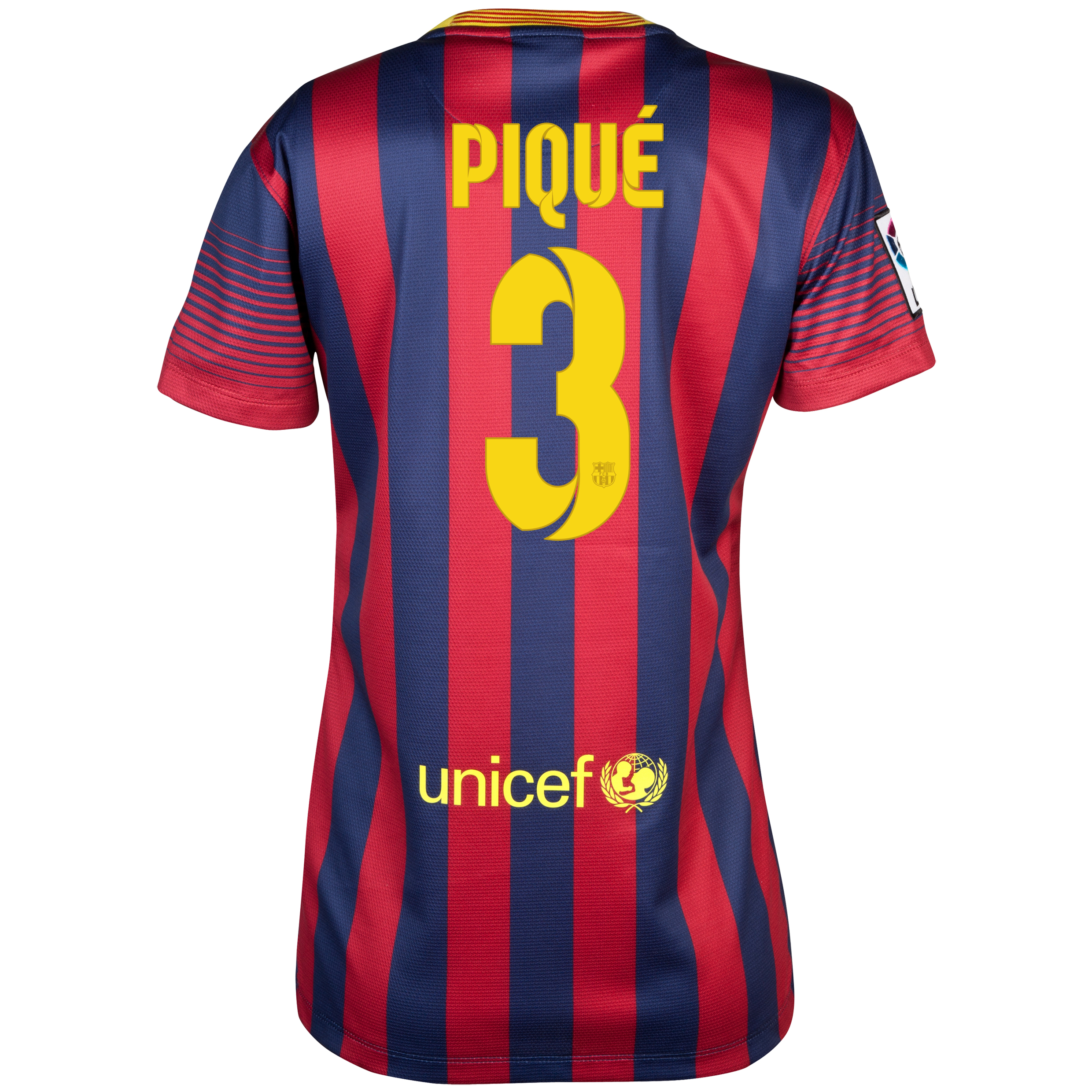 Barcelona Home Shirt 2013/14 - Womens with Pique 3 printing