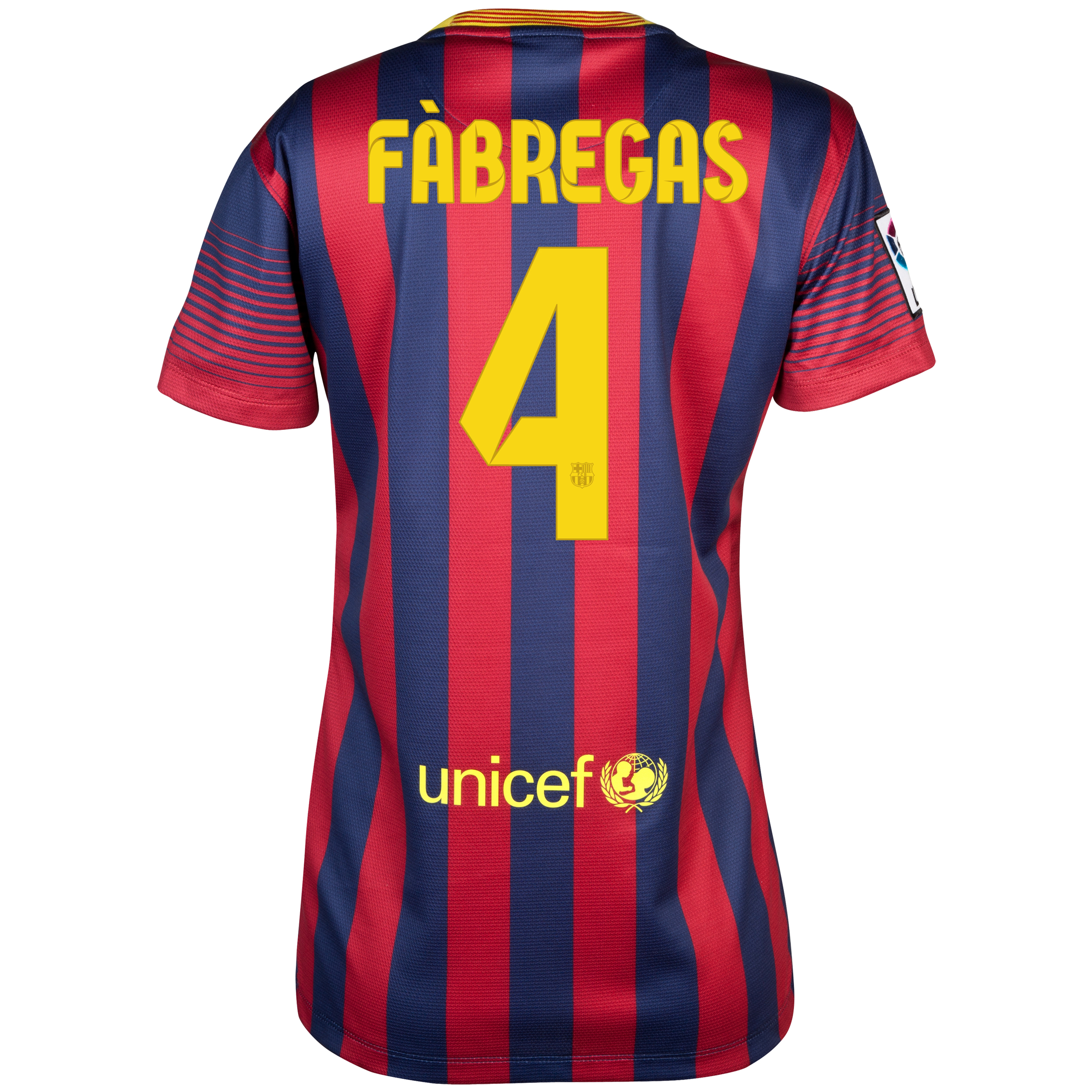 Barcelona Home Shirt 2013/14 - Womens with Fabregas 4 printing