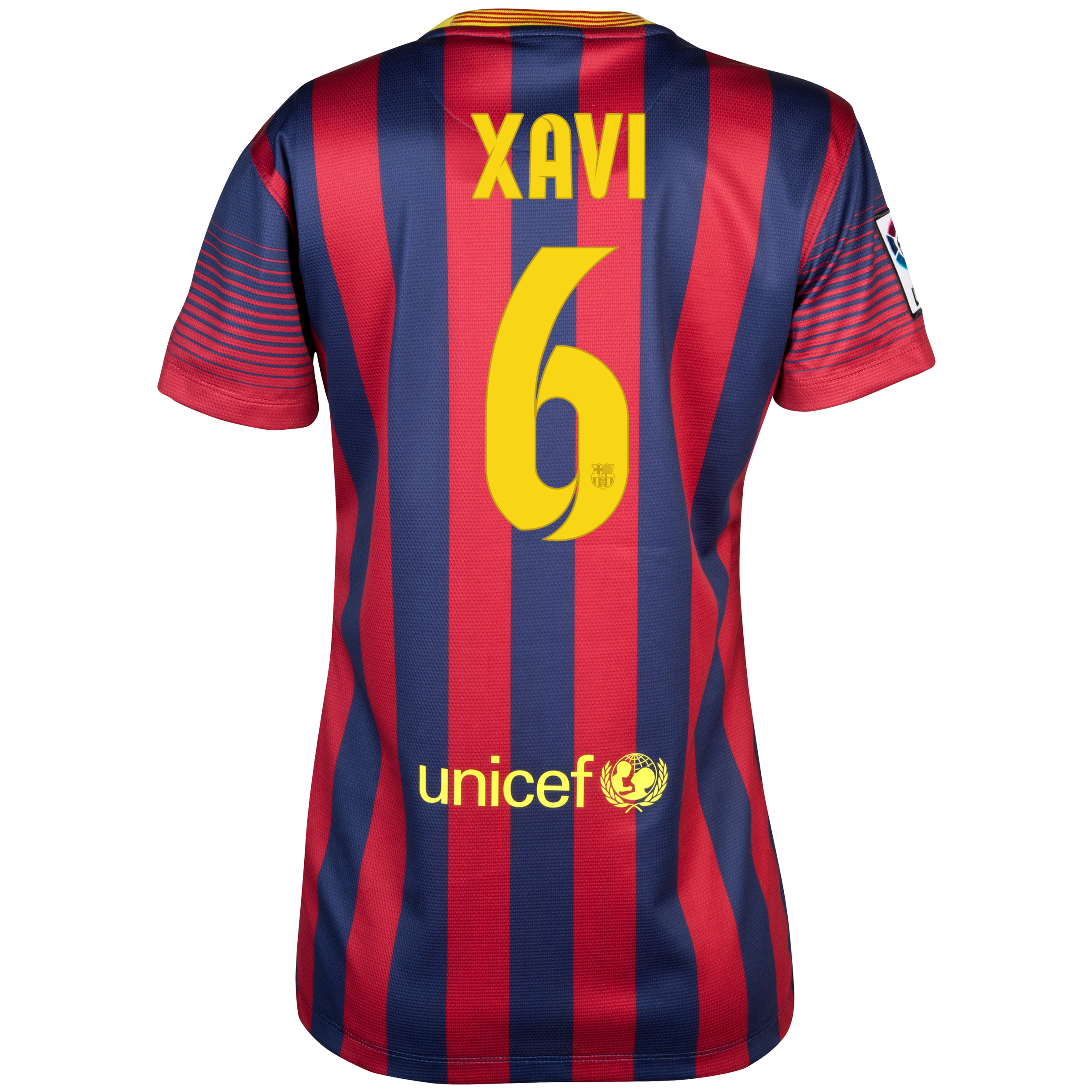Barcelona Home Shirt 2013/14 - Womens with Xavi 6 printing