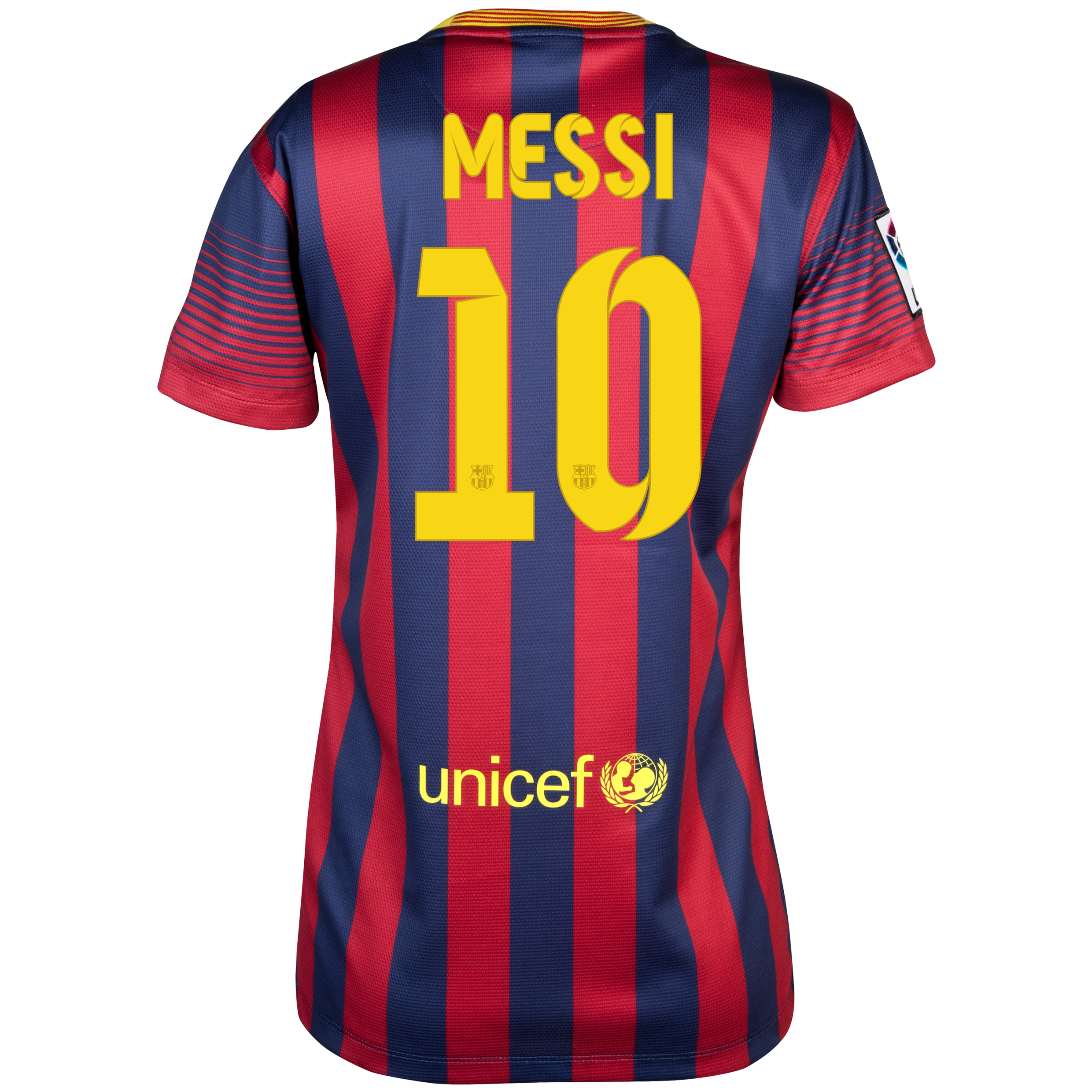 Barcelona Home Shirt 2013/14 - Womens with Messi 10 printing