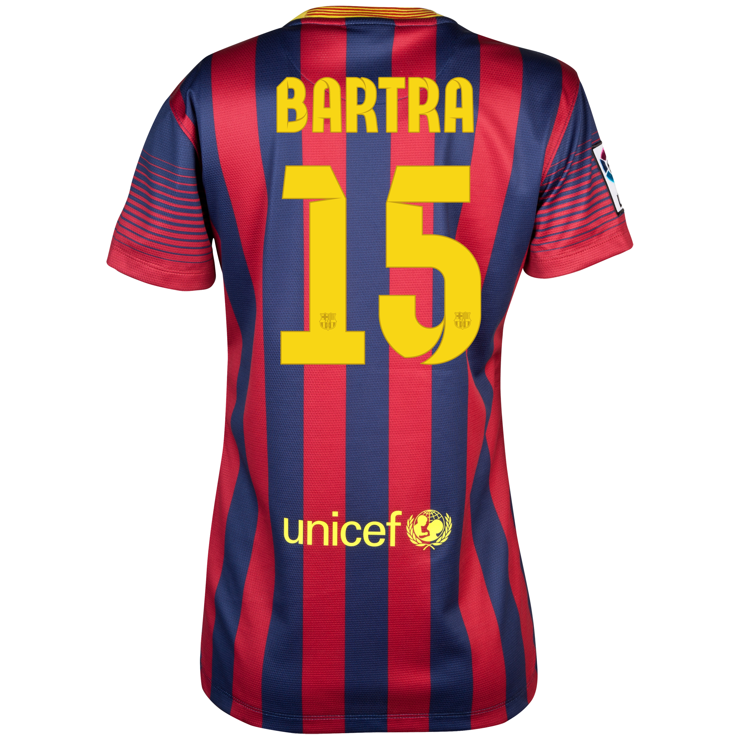 Barcelona Home Shirt 2013/14 - Womens with Bartra 15 printing
