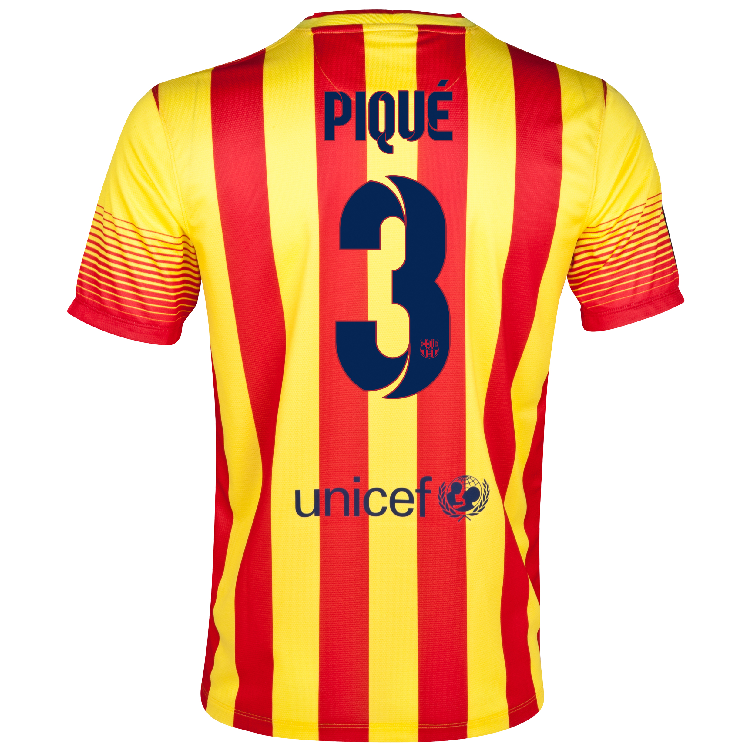 Barcelona Away Shirt 2013/14 with Pique 3 printing