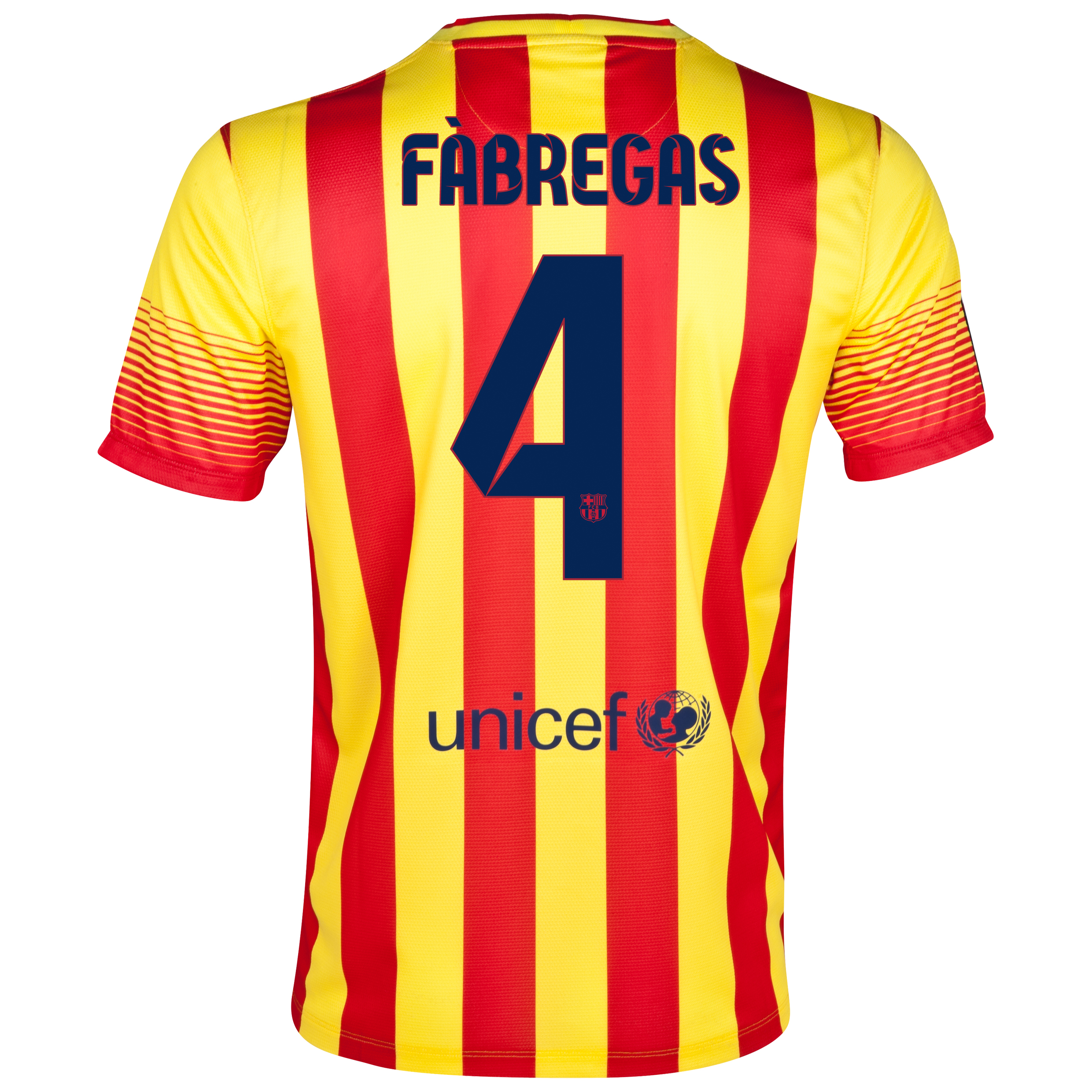 Barcelona Away Shirt 2013/14 with Fabregas 4 printing