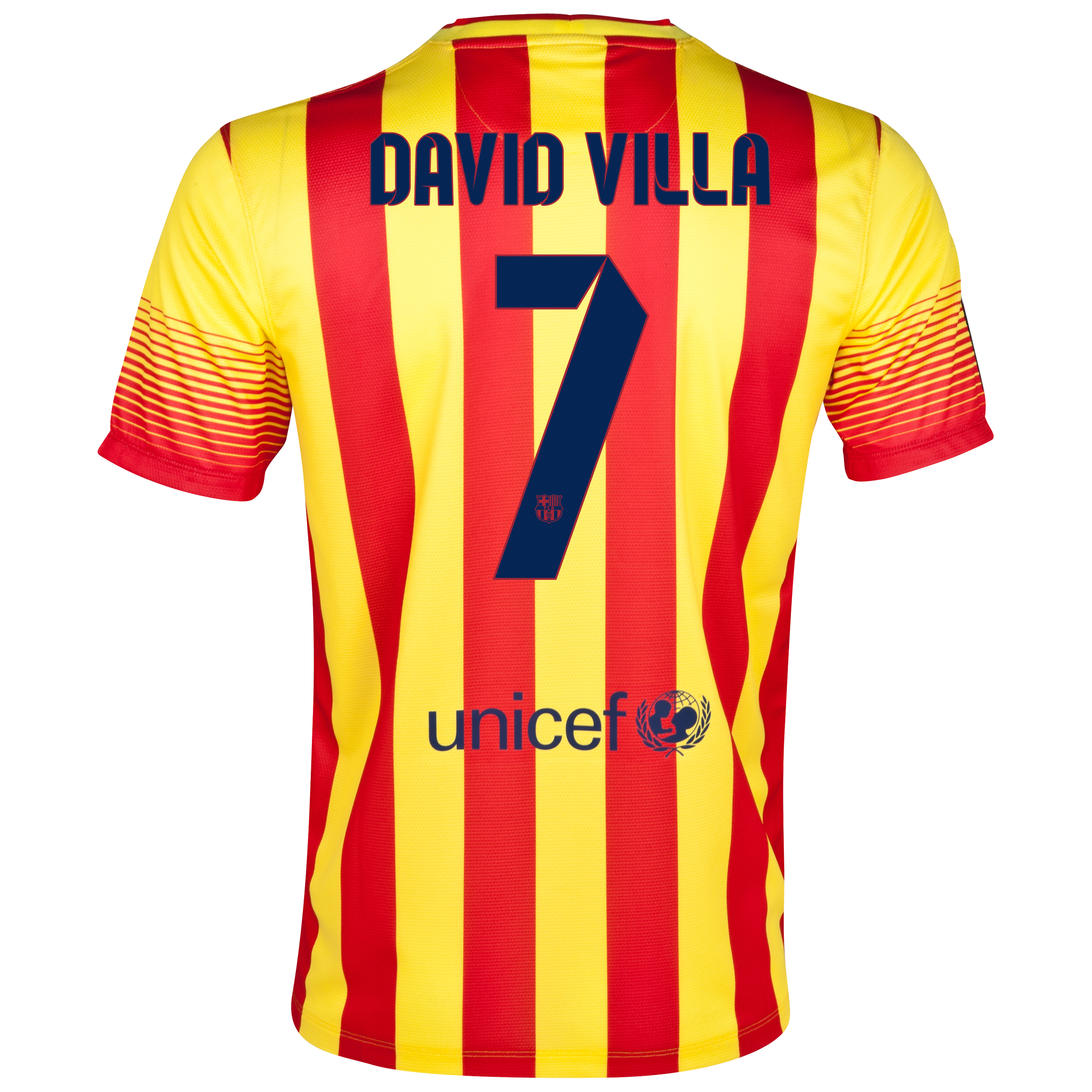 Barcelona Away Shirt 2013/14 with David Villa 7 printing