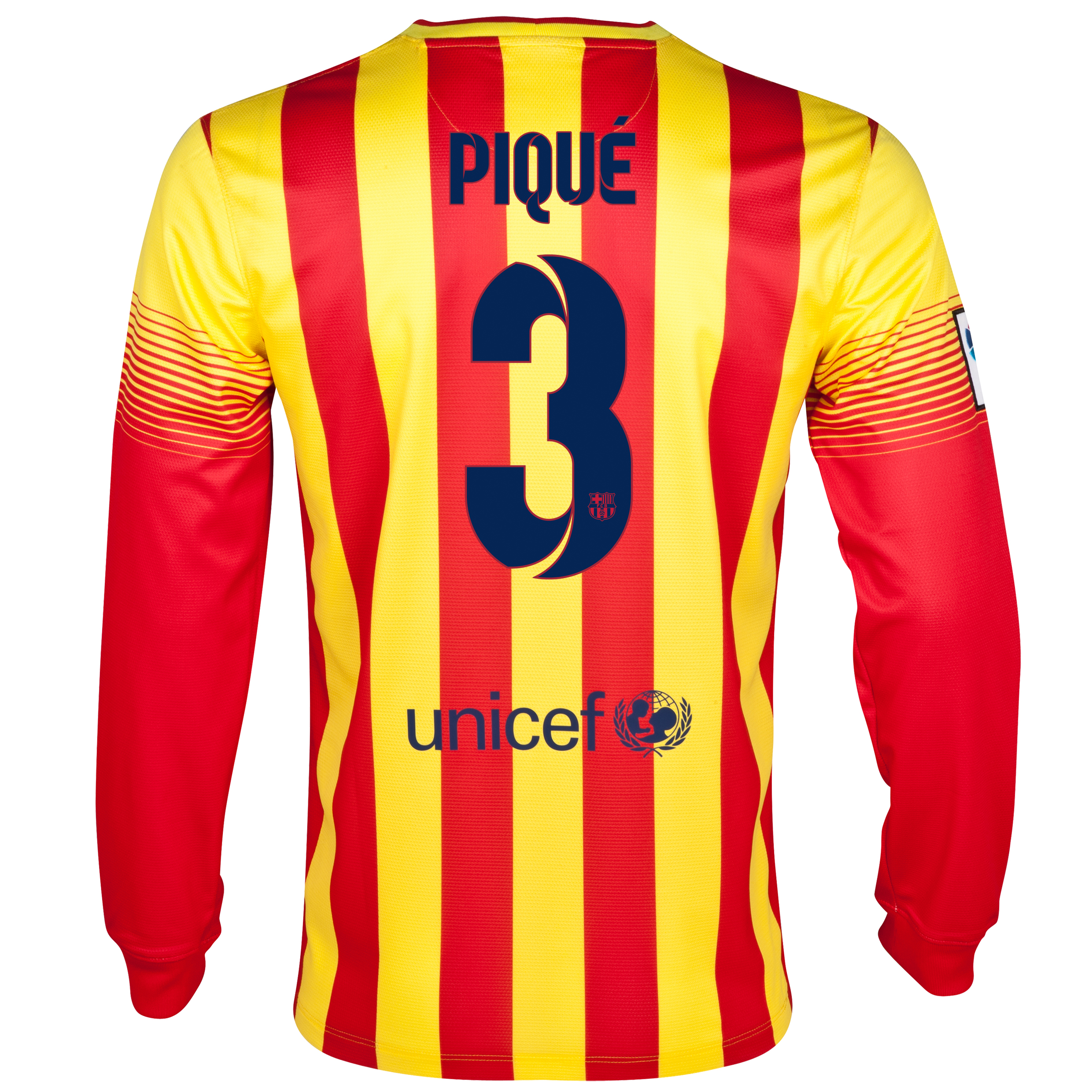 Barcelona Away Shirt 2013/14 - Long Sleeved with Pique 3 printing