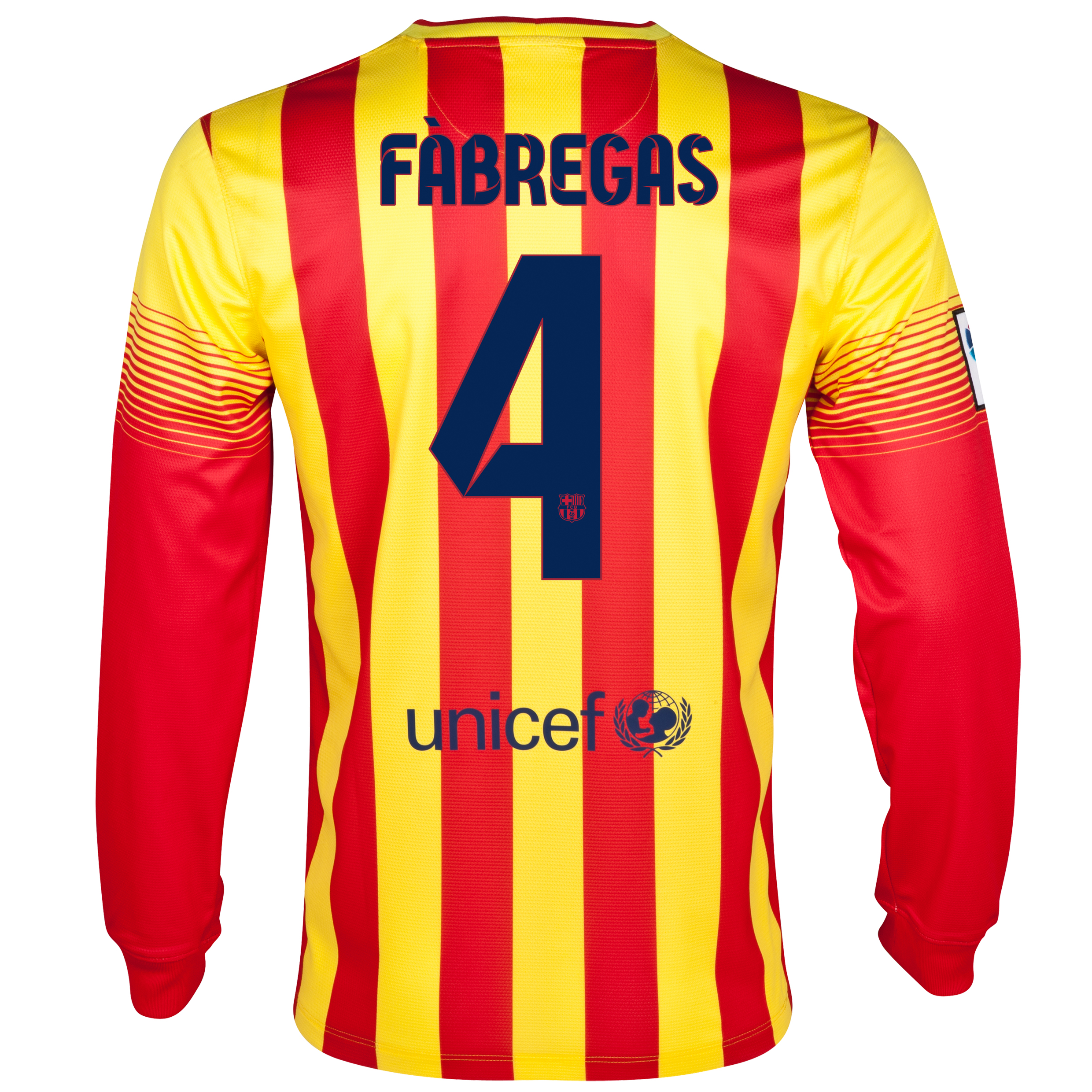 Barcelona Away Shirt 2013/14 - Long Sleeved with Fabregas 4 printing