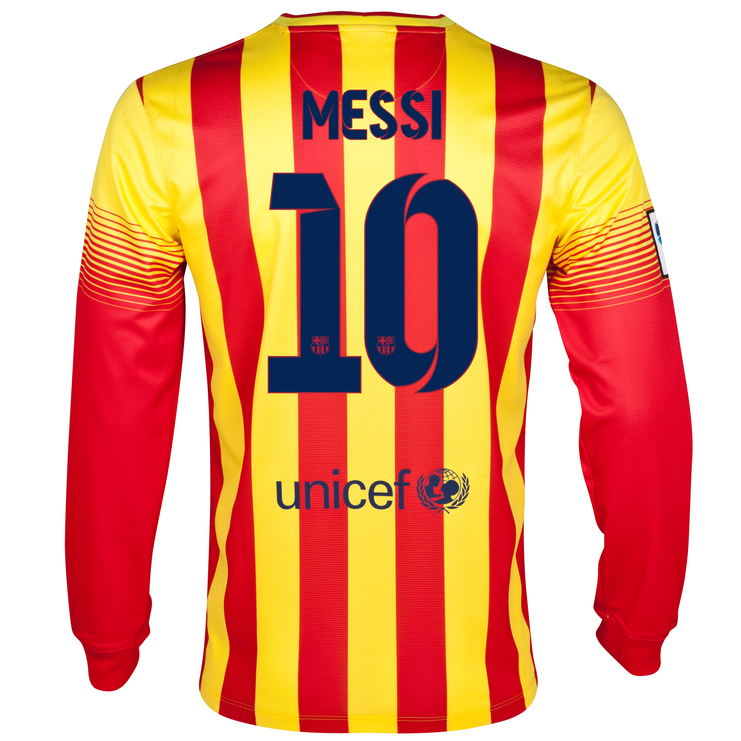 Barcelona Away Shirt 2013/14 - Long Sleeved with Messi 10 printing