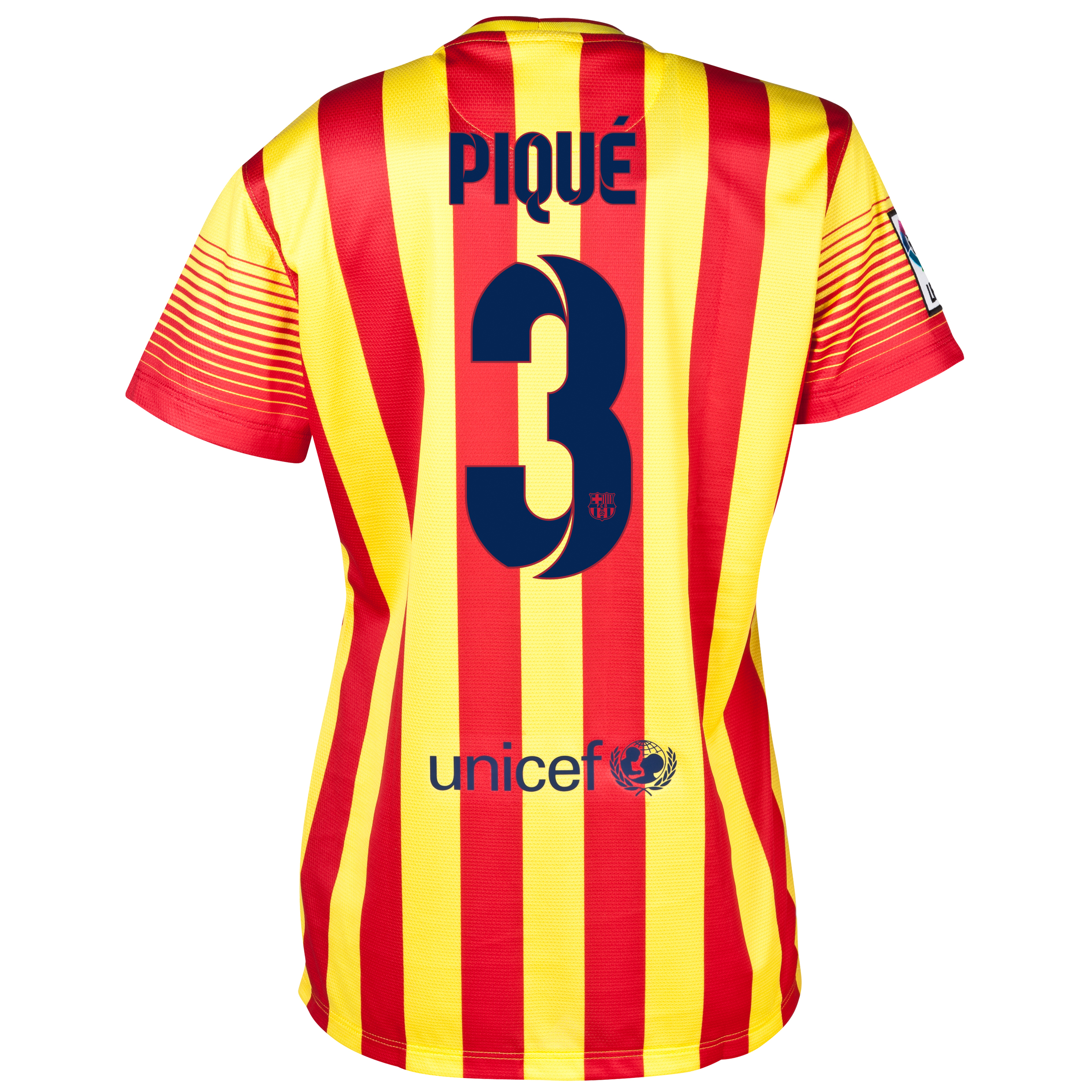 Barcelona Away Shirt 2013/14 - Womens with Pique 3 printing