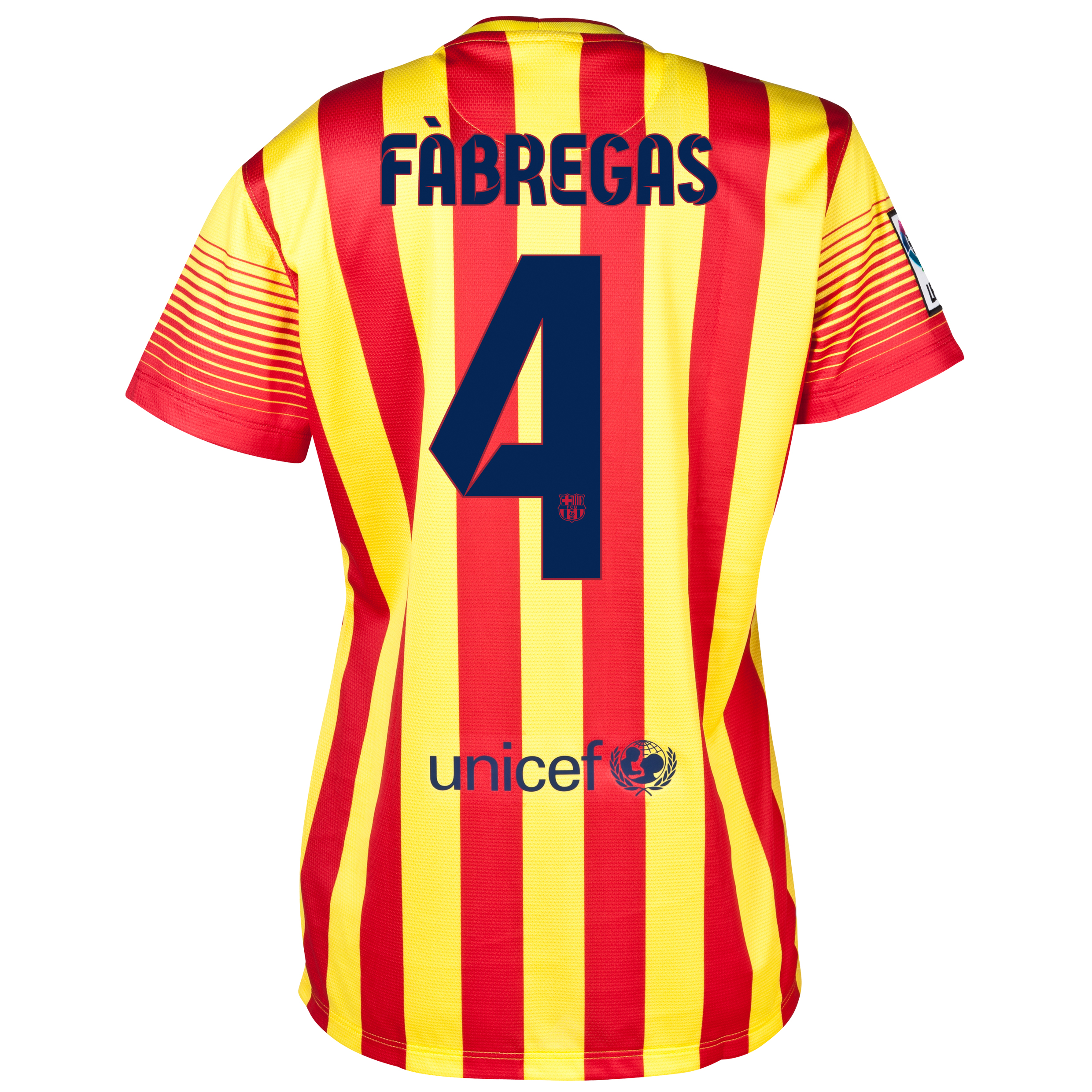 Barcelona Away Shirt 2013/14 - Womens with Fabregas 4 printing