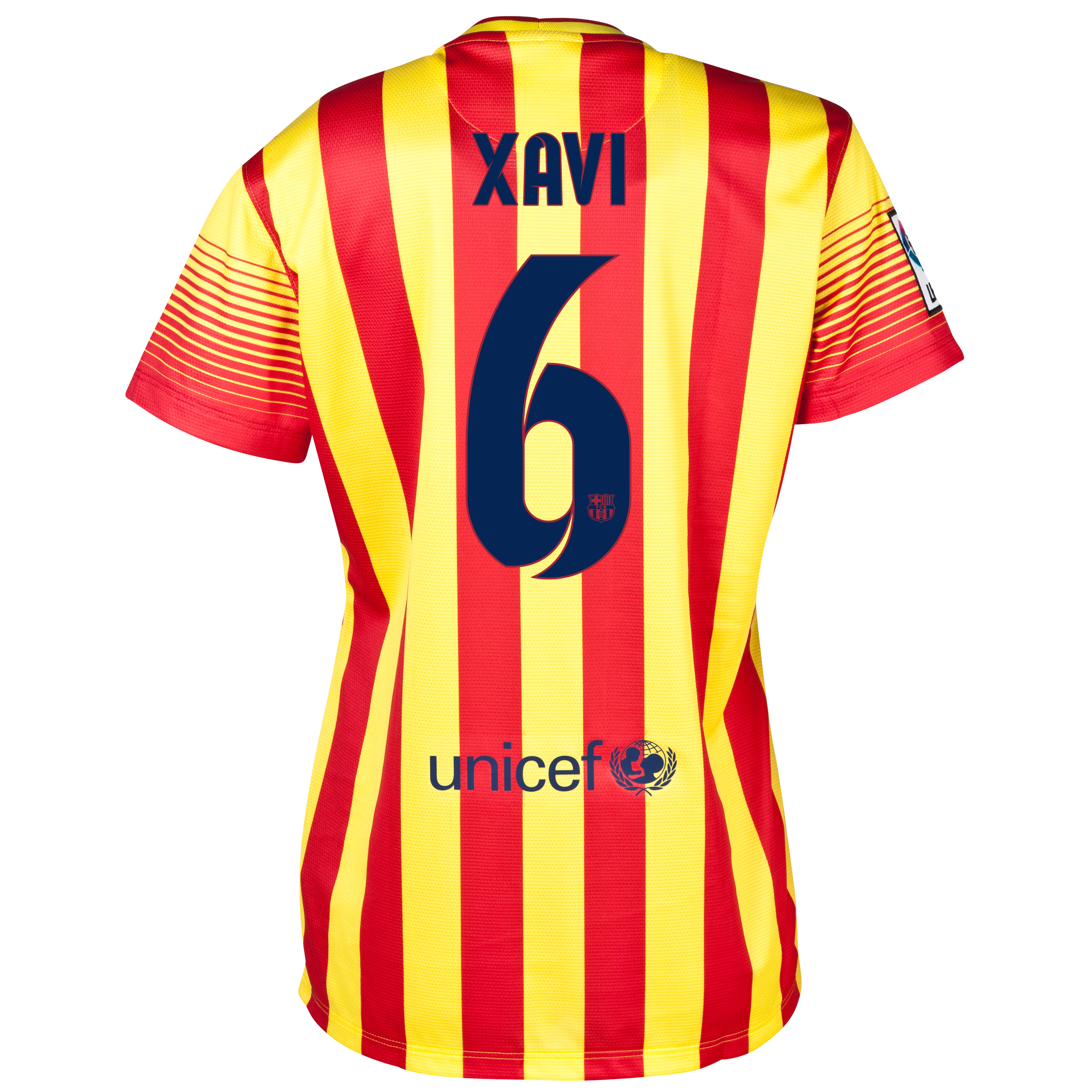 Barcelona Away Shirt 2013/14 - Womens with Xavi 6 printing