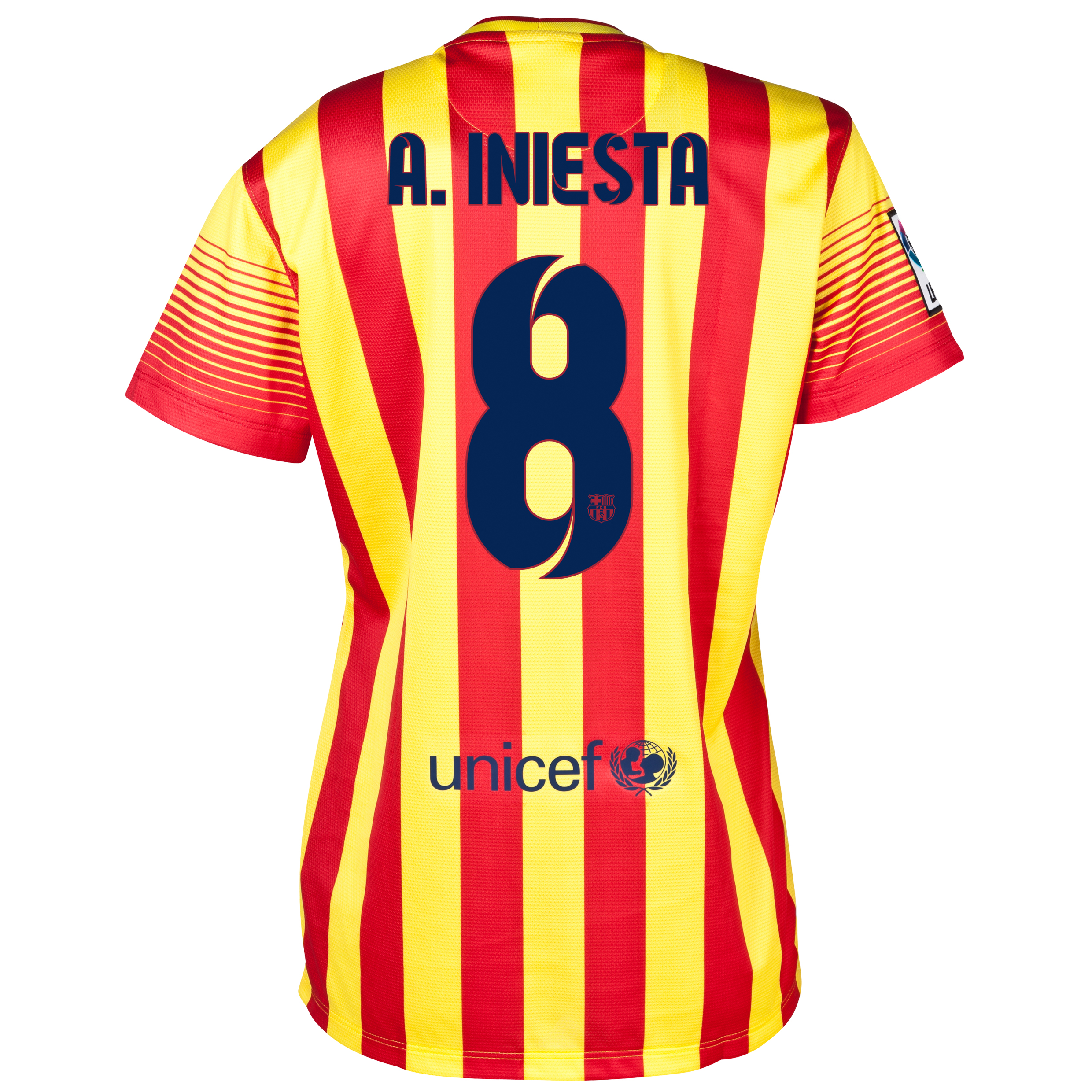 Barcelona Away Shirt 2013/14 - Womens with A. Iniesta  8 printing