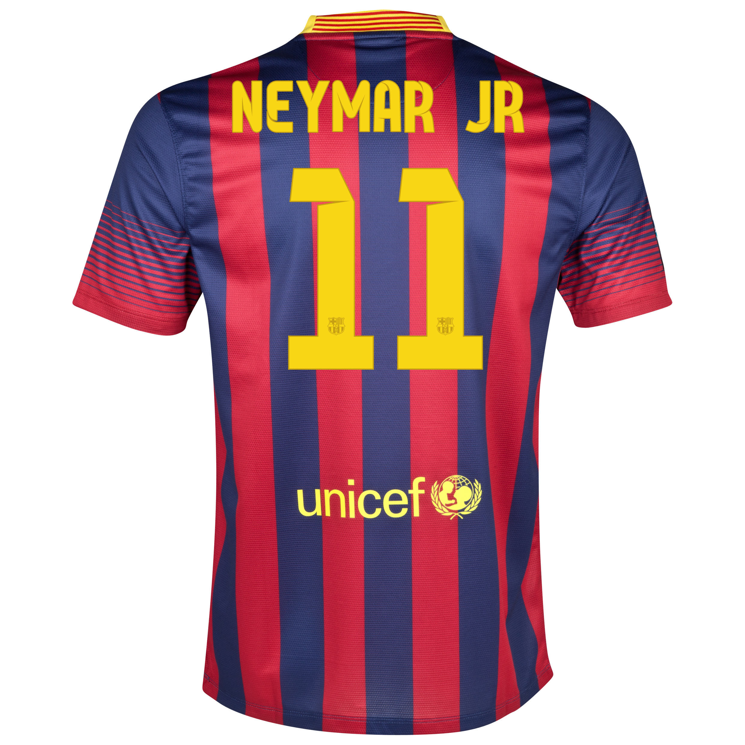 Barcelona Home Shirt 2013/14 with Neymar Jr 11 printing