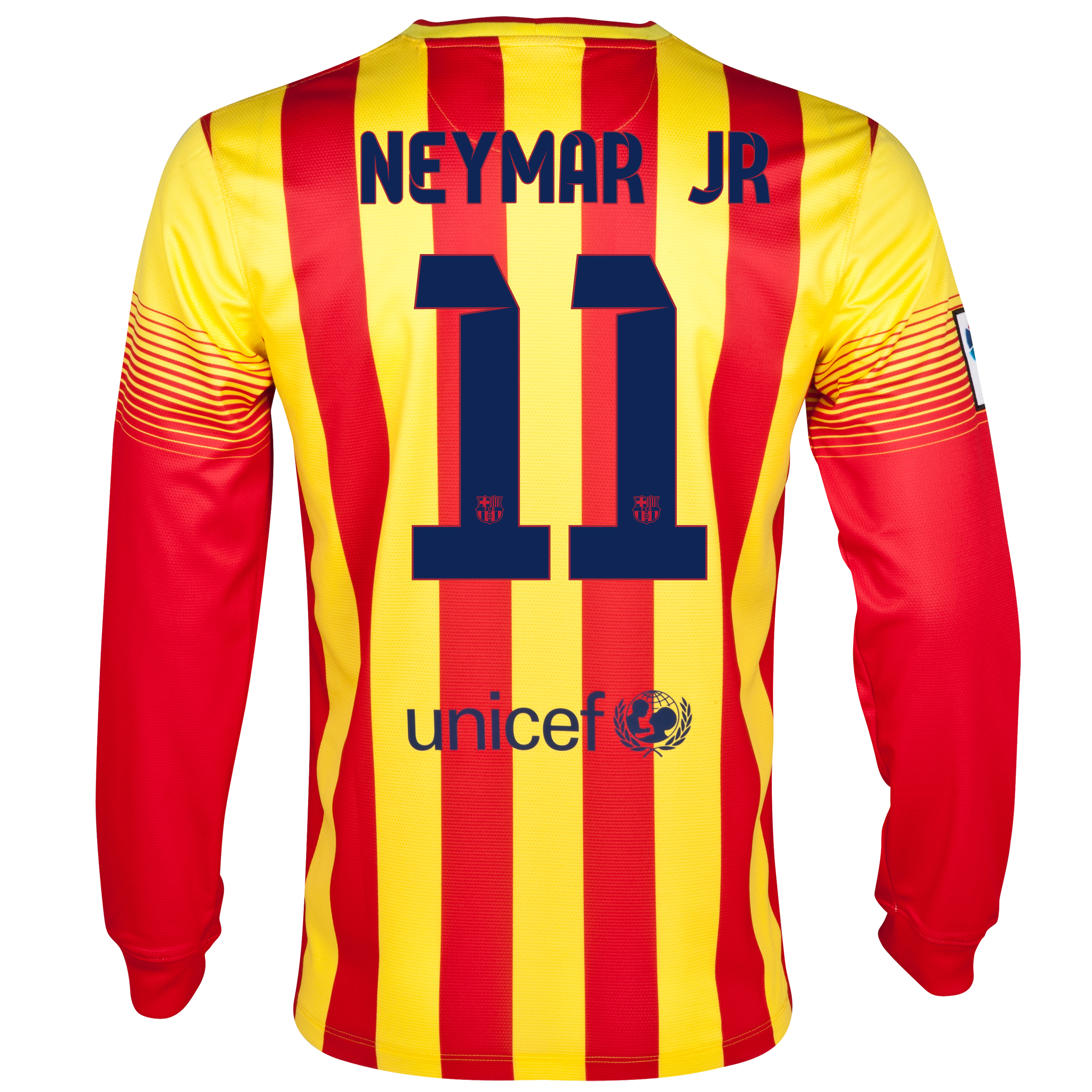 Barcelona Away Shirt 2013/14 - Long Sleeved with Neymar Jr 11 printing