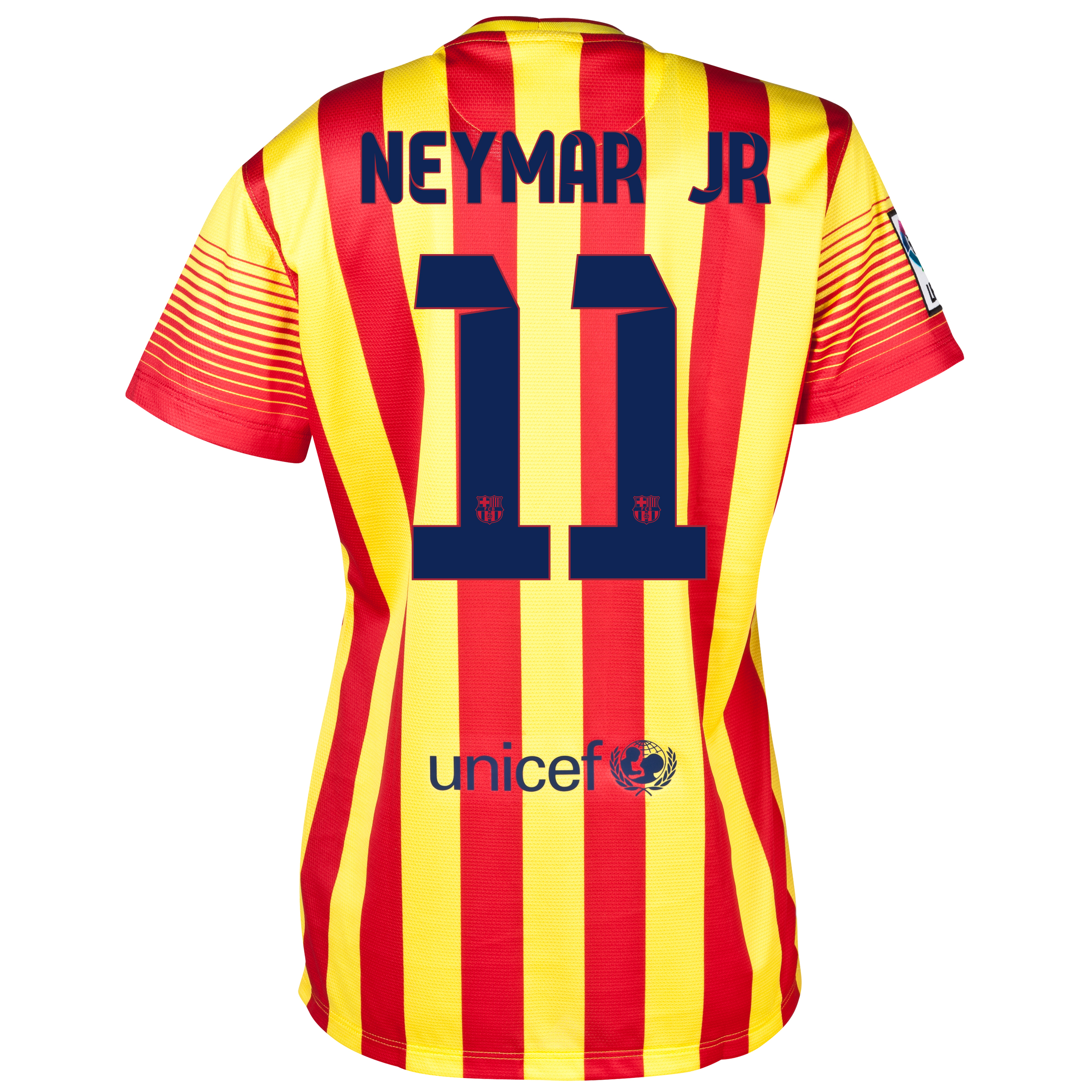 Barcelona Away Shirt 2013/14 - Womens with Neymar Jr 11 printing