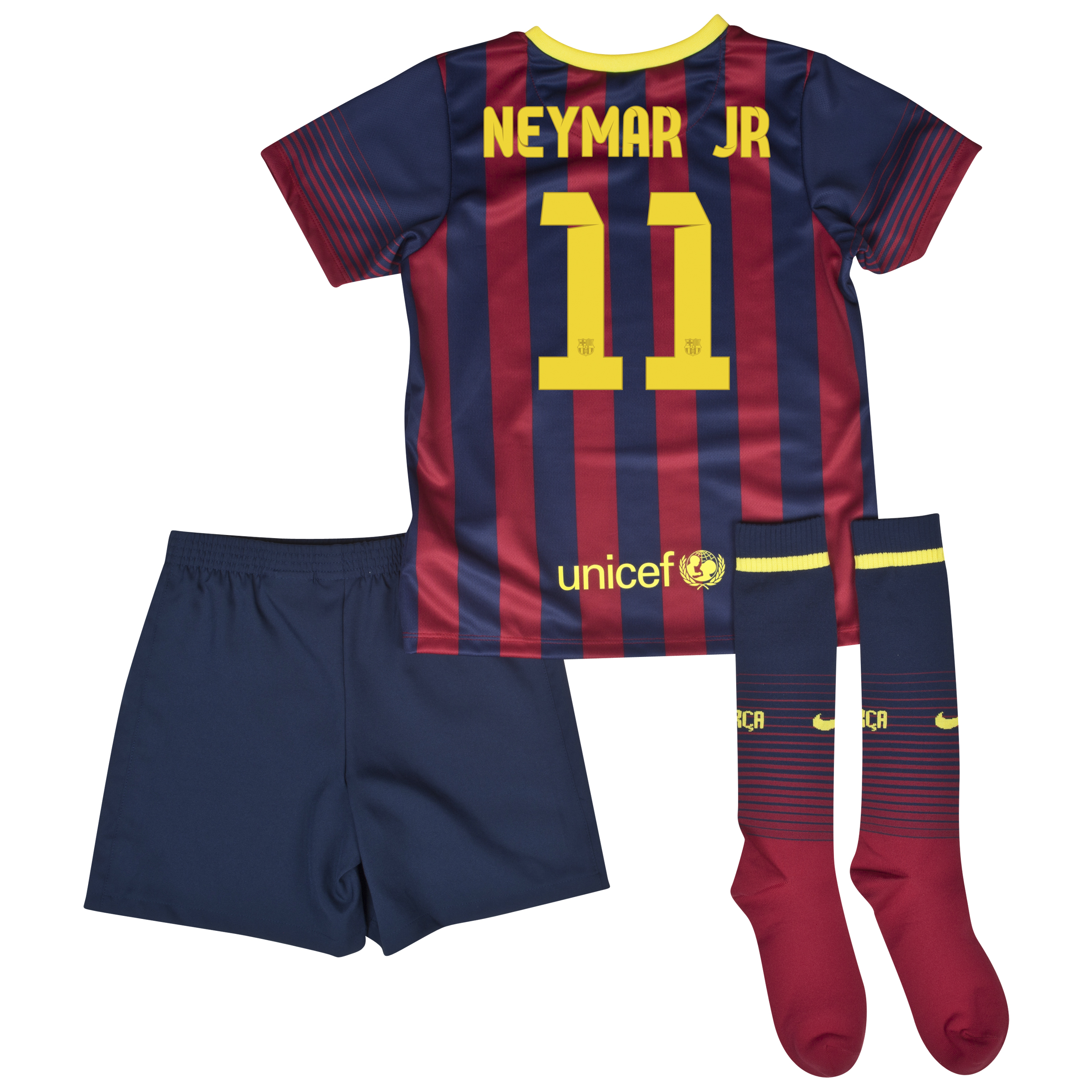 Barcelona Home Kit 2013/14 - Little Boys with Neymar Jr 11 printing