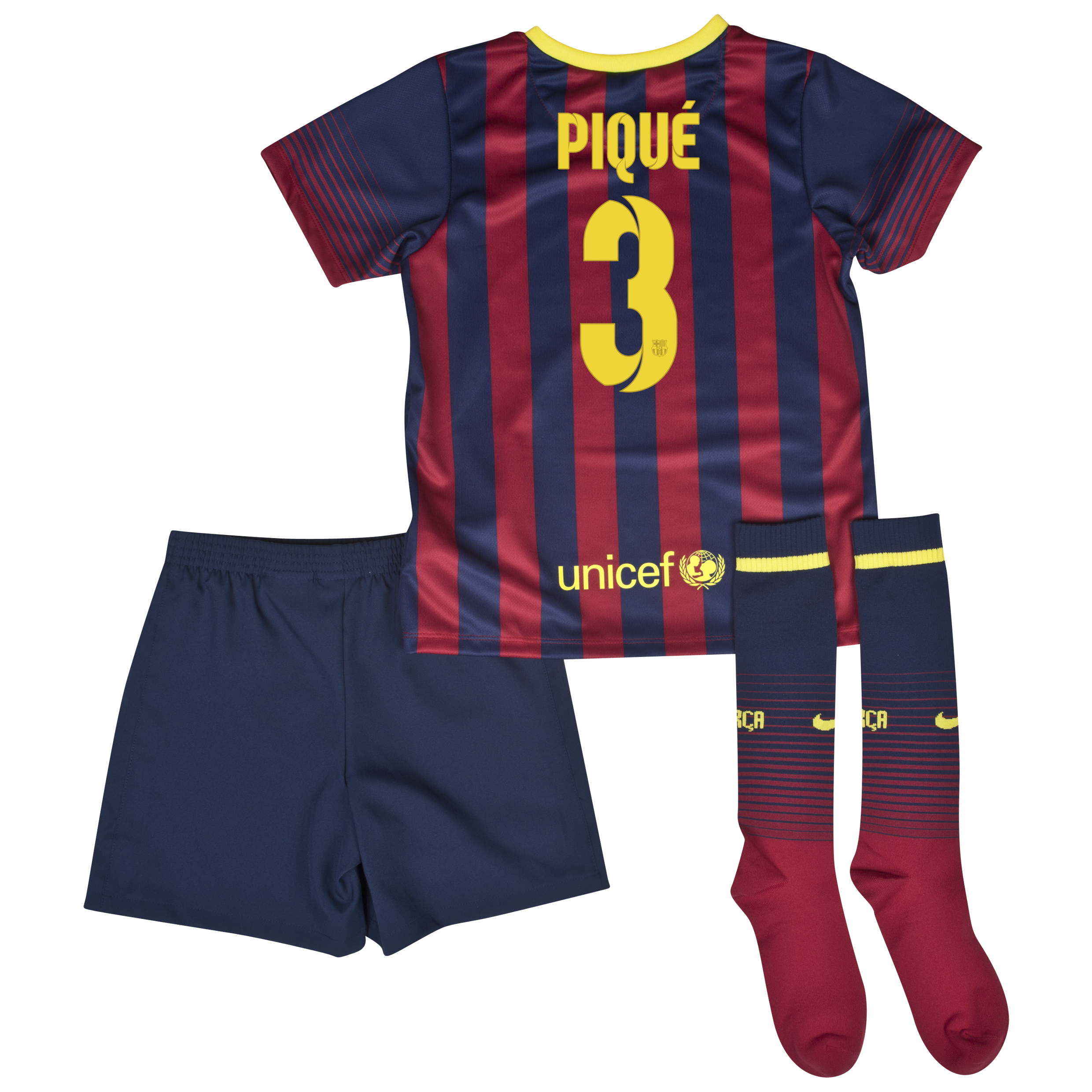 Barcelona Home Kit 2013/14 - Little Boys with Pique 3 printing