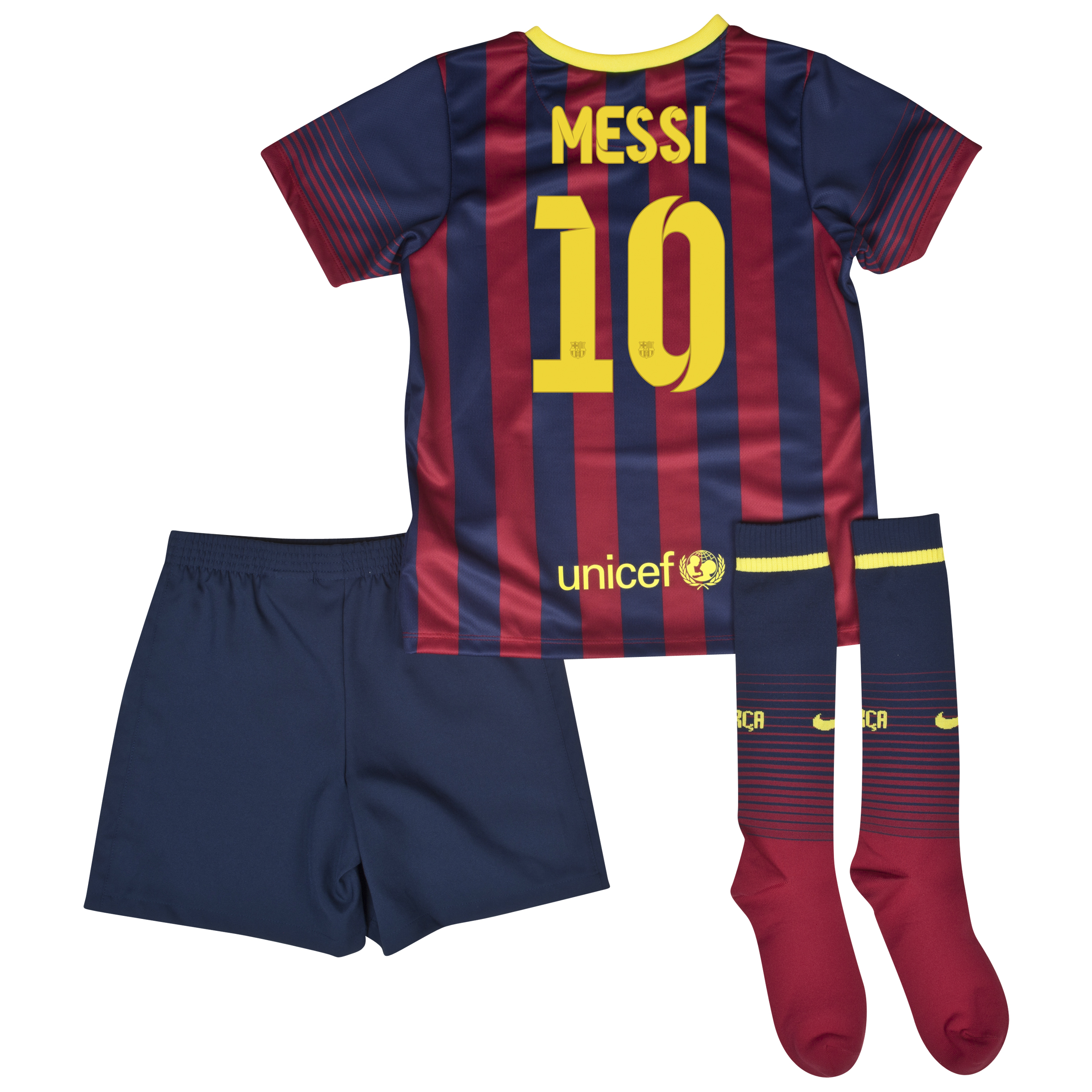 Barcelona Home Kit 2013/14 - Little Boys with Messi 10 printing