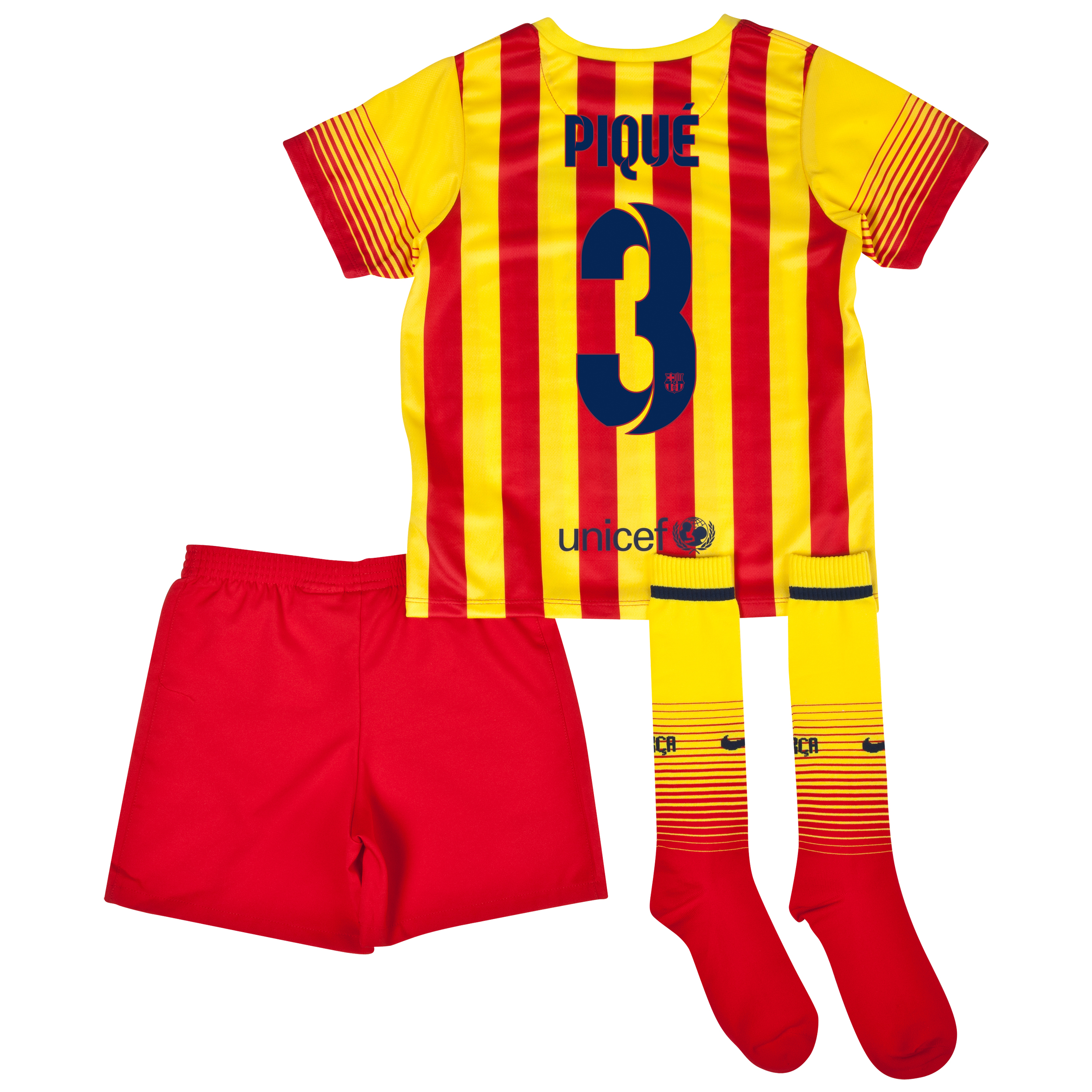 Barcelona Away Kit 2013/14 - Little Boys with Pique 3 printing