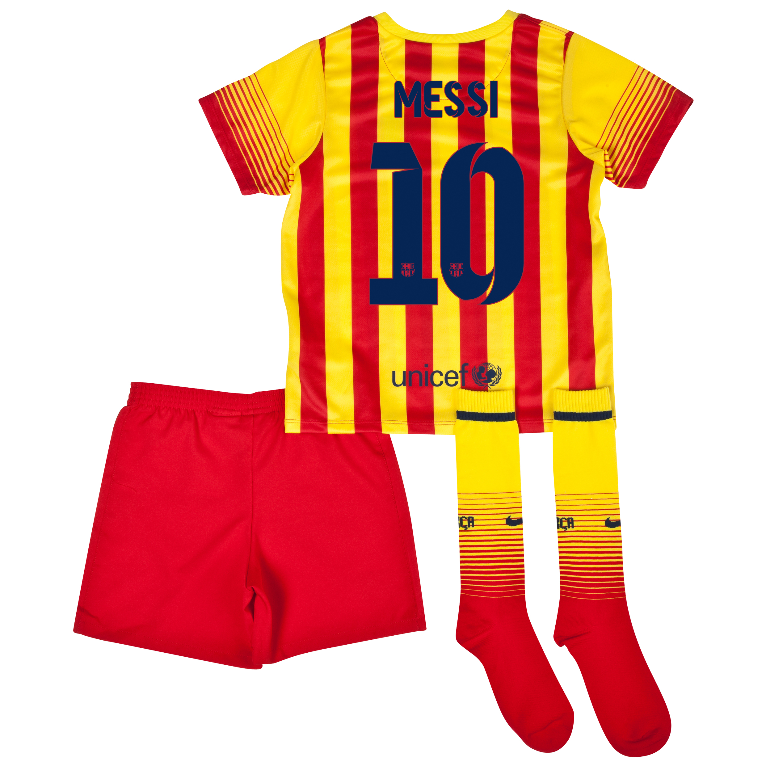 Barcelona Away Kit 2013/14 - Little Boys with Messi 10 printing