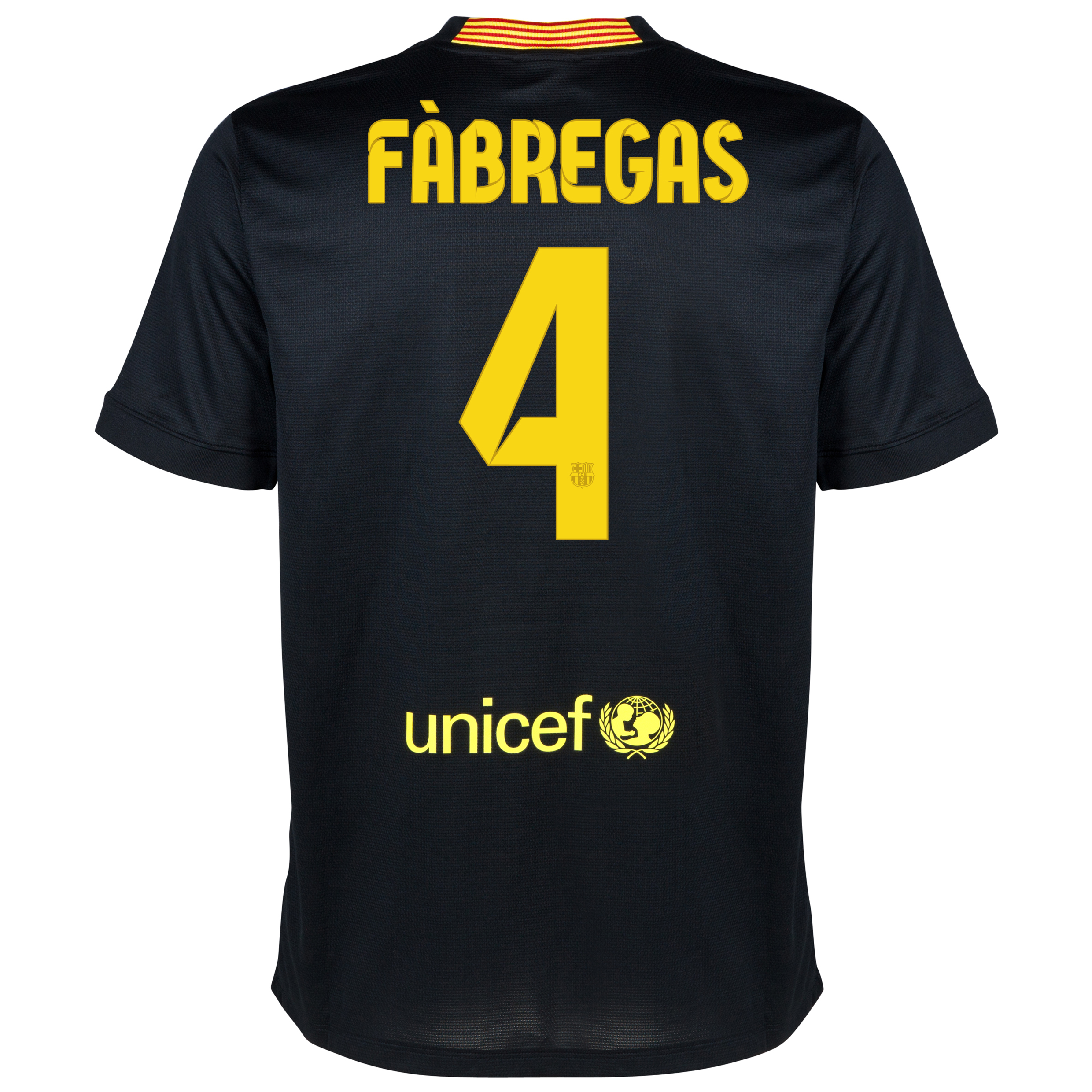 Barcelona Third Shirt 2013/14 with Fabregas 4 printing