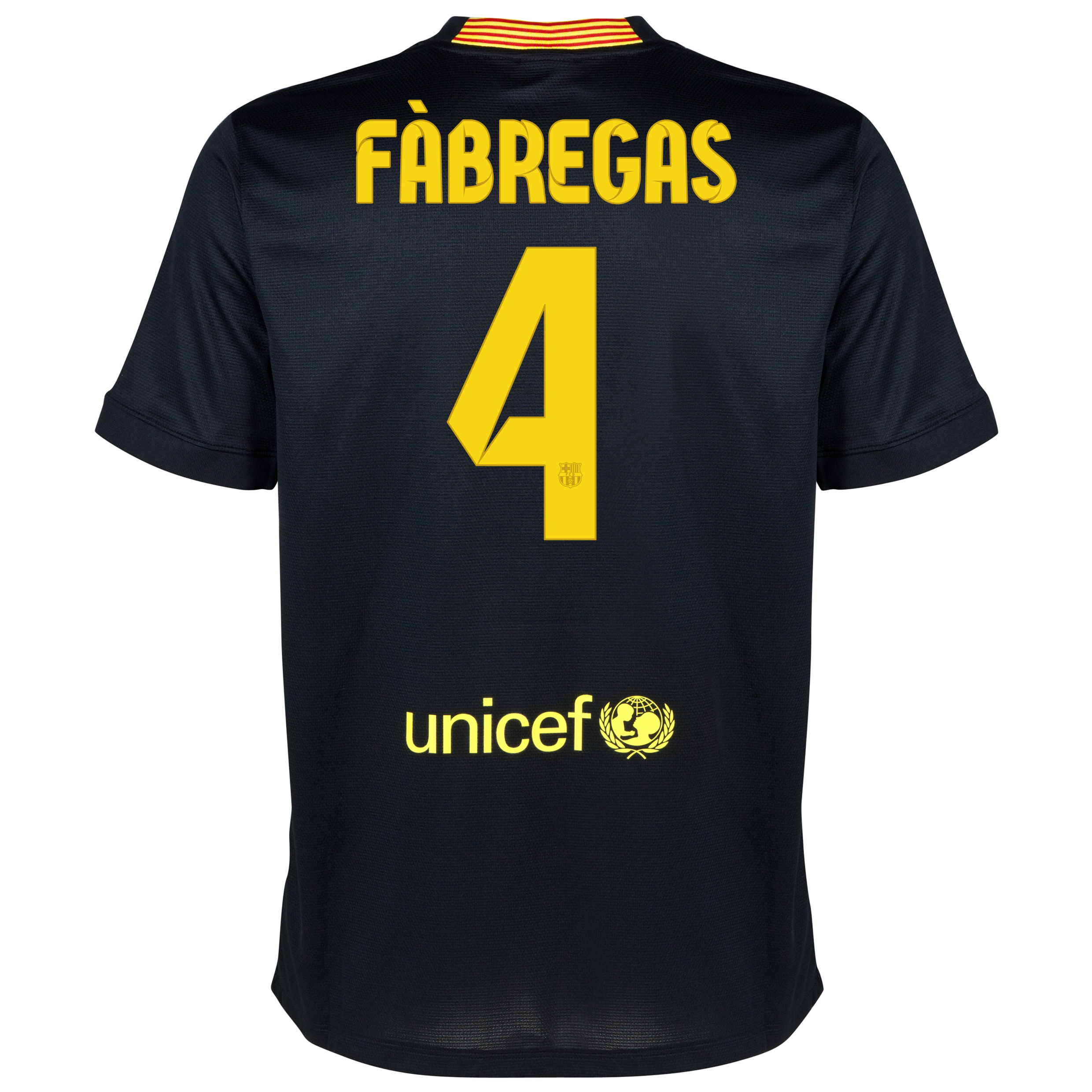Barcelona Third Shirt 2013/14 - Kids with Fabregas 4 printing