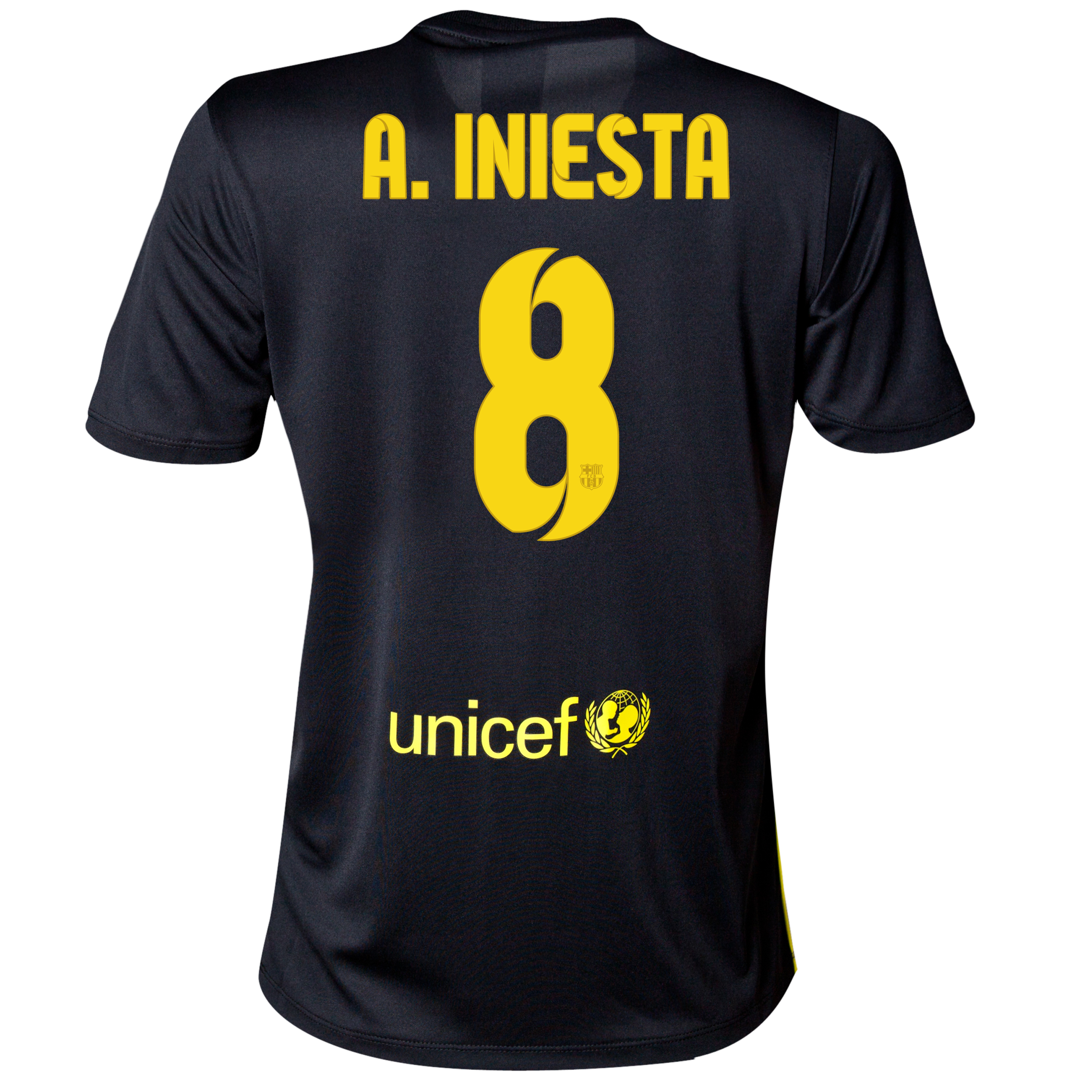 Barcelona Third Shirt 2013/14 - Womens with A. Iniesta  8 printing