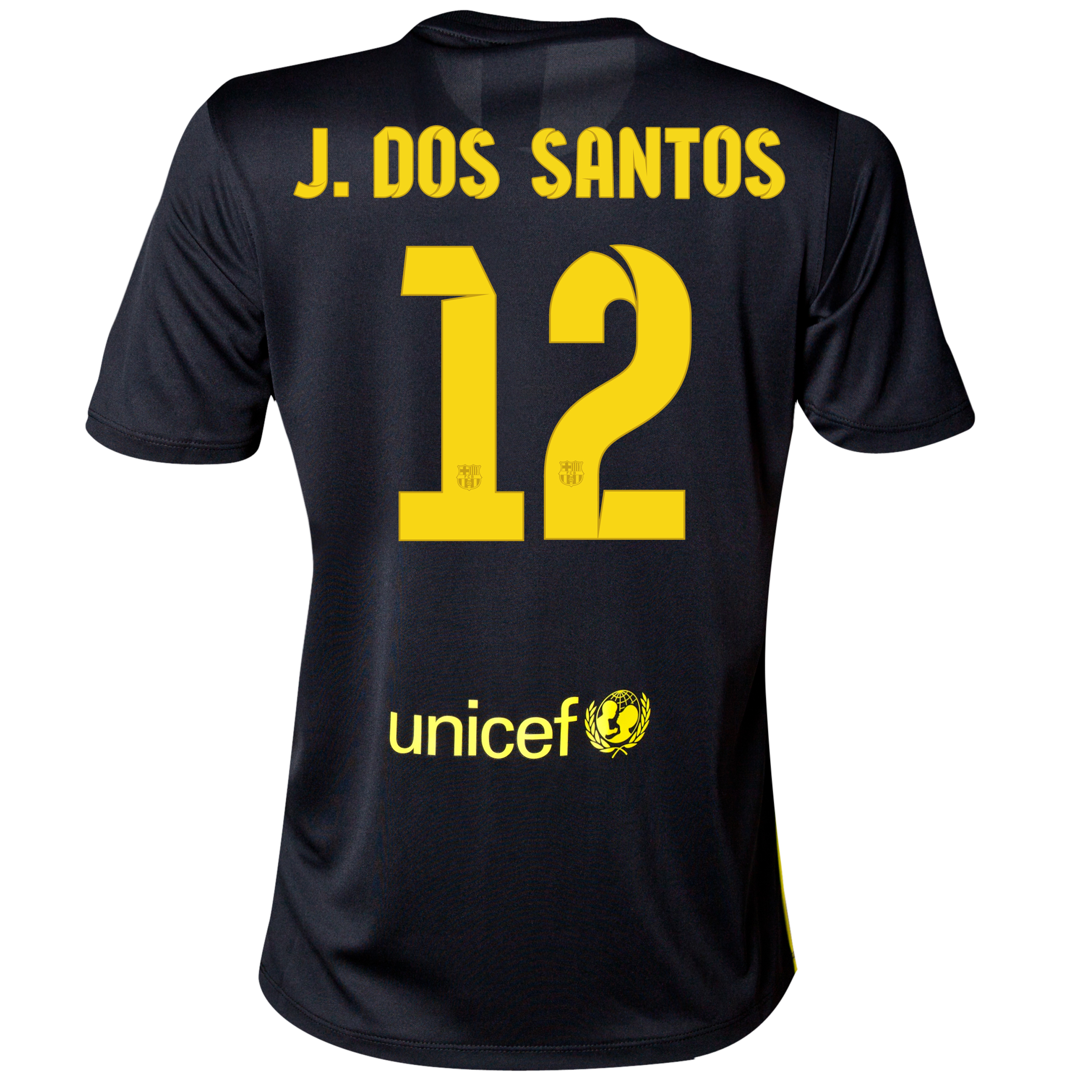 Barcelona Third Shirt 2013/14 - Womens with J. Dos Santos 12 printing