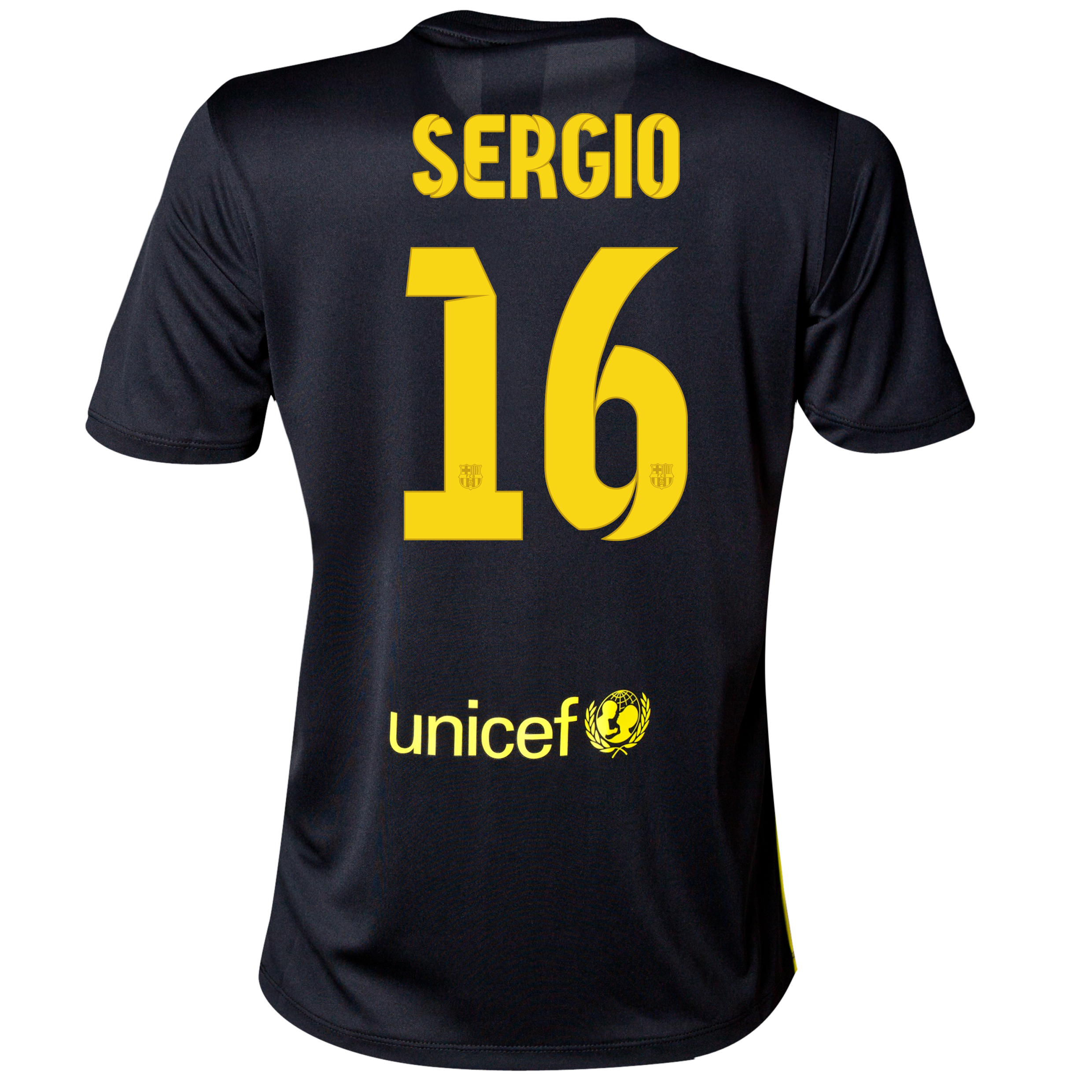 Barcelona Third Shirt 2013/14 - Womens with Sergio 16 printing
