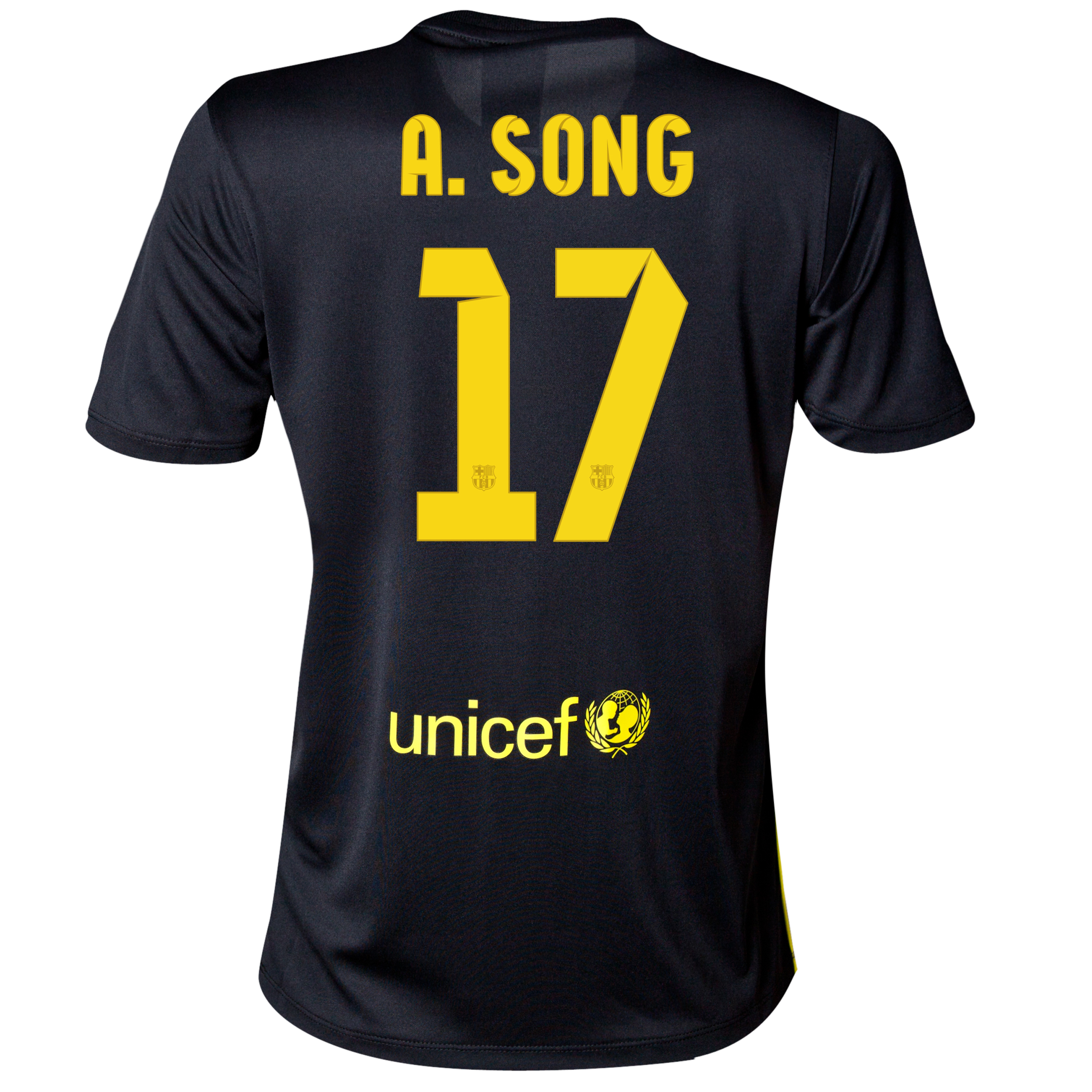 Barcelona Third Shirt 2013/14 - Womens with A. Song 17 printing