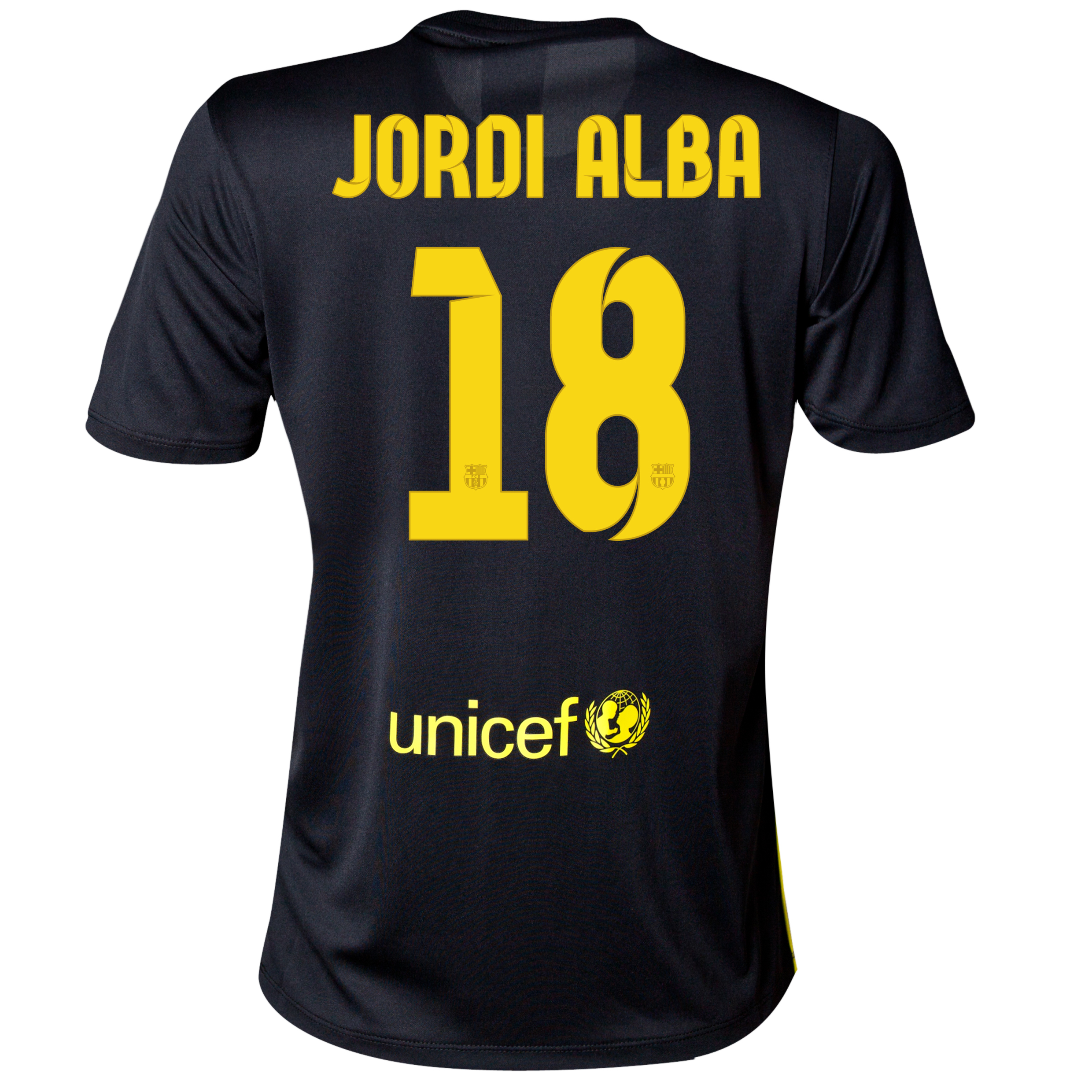 Barcelona Third Shirt 2013/14 - Womens with Jordi Alba 18 printing