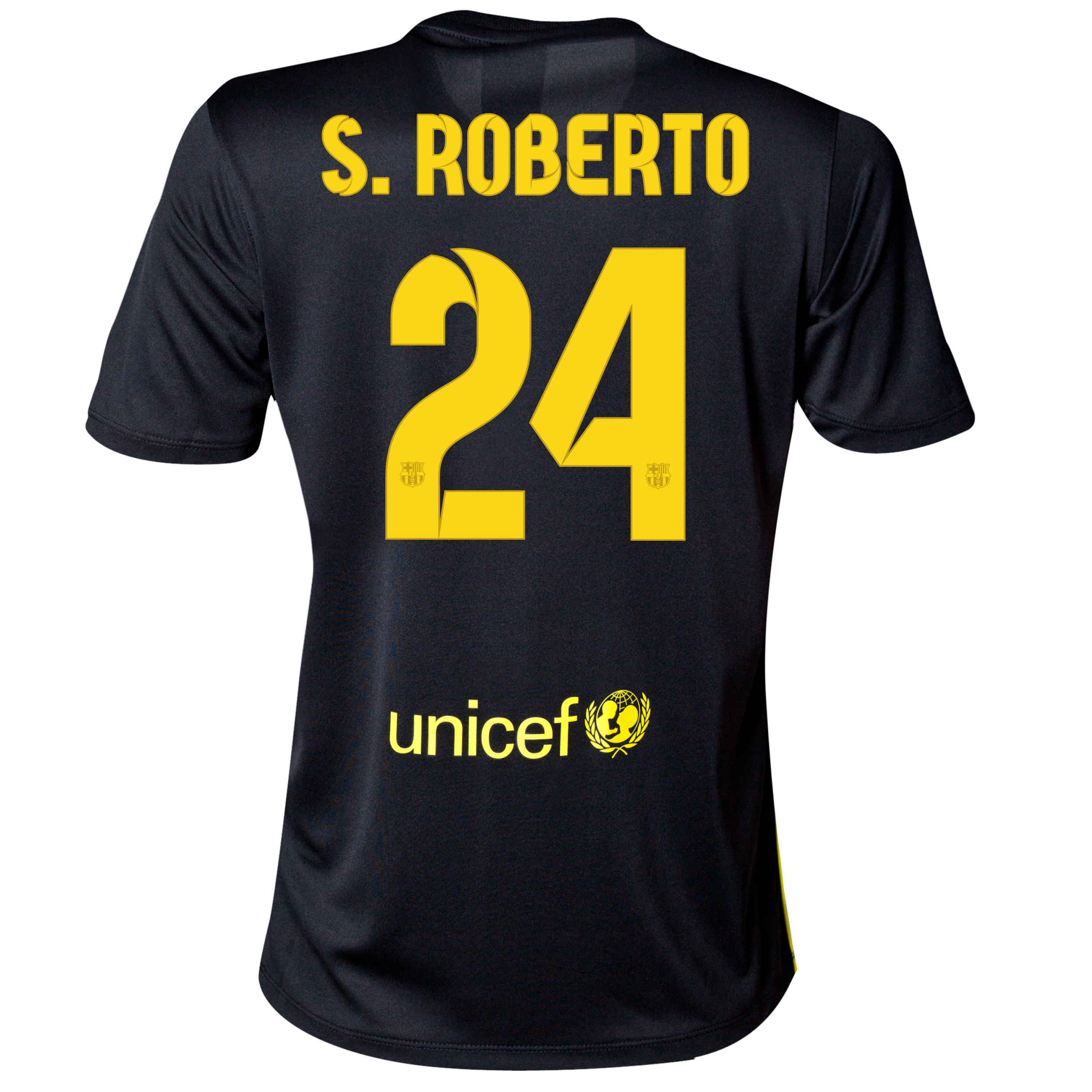Barcelona Third Shirt 2013/14 - Womens with S.Roberto 24 printing